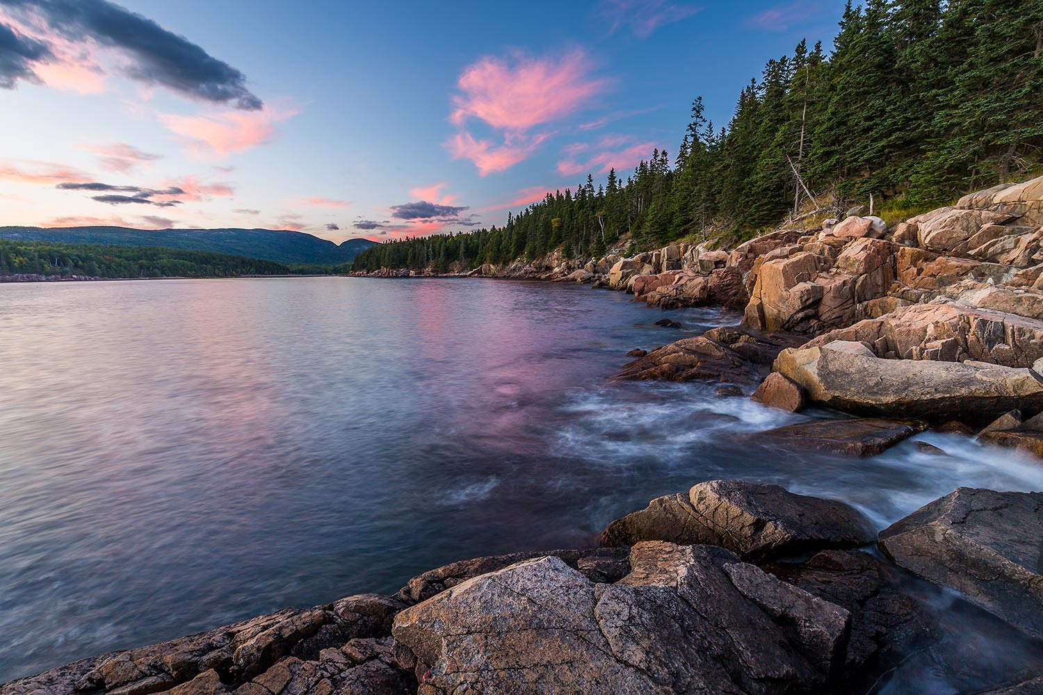 Otter Cove just after sunset, Acadia National Park.