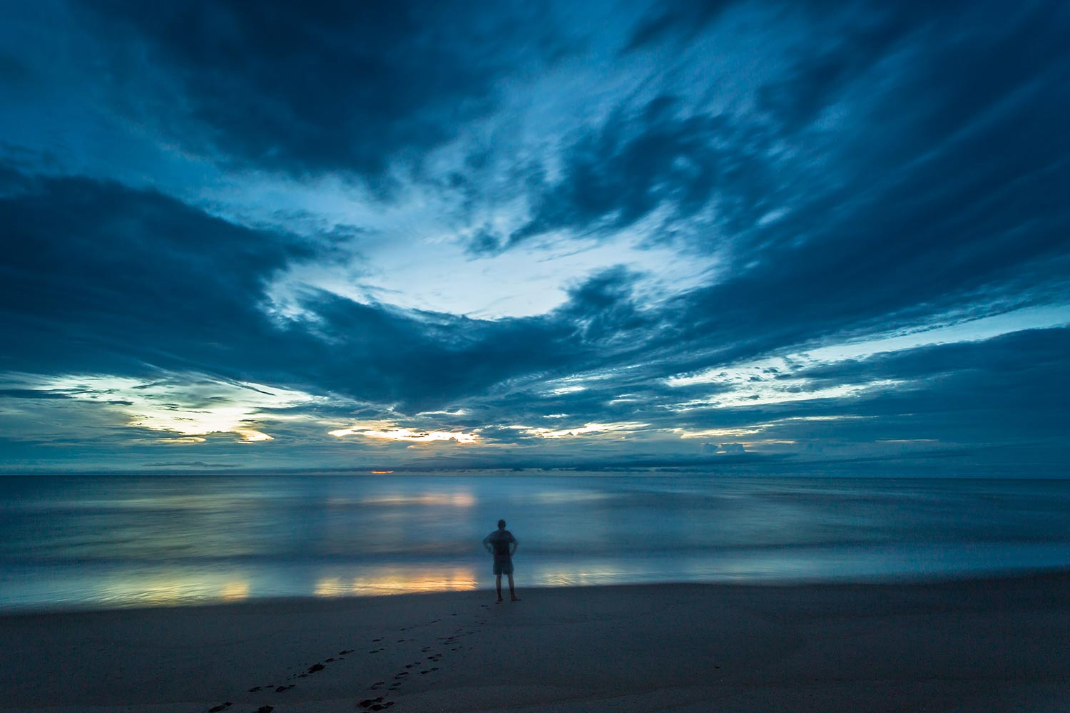 """My version of a """"selfie"""", on the beach just before sunrise."""