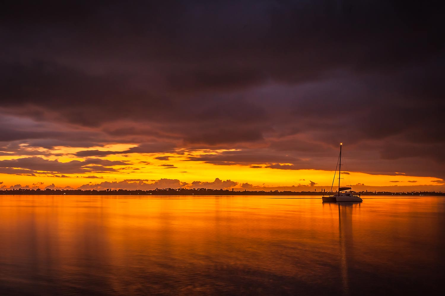 Sunrise on the Indian River, Melbourne.