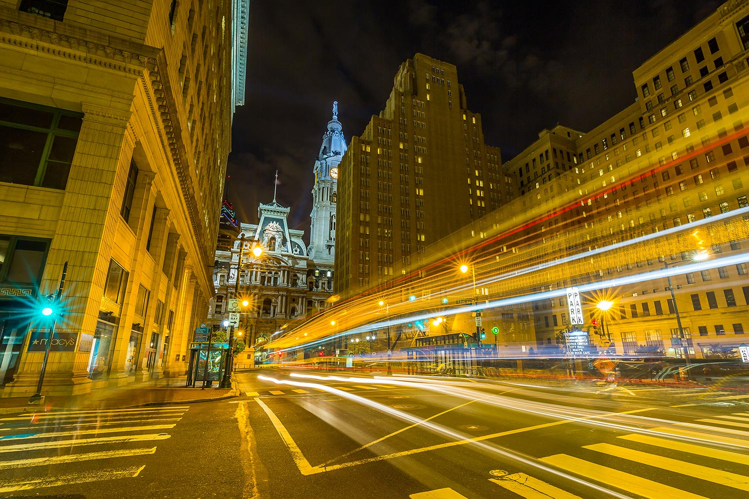 ..........and now for something completely different.  Long exposure of a city bus passing by, downtown Philly.