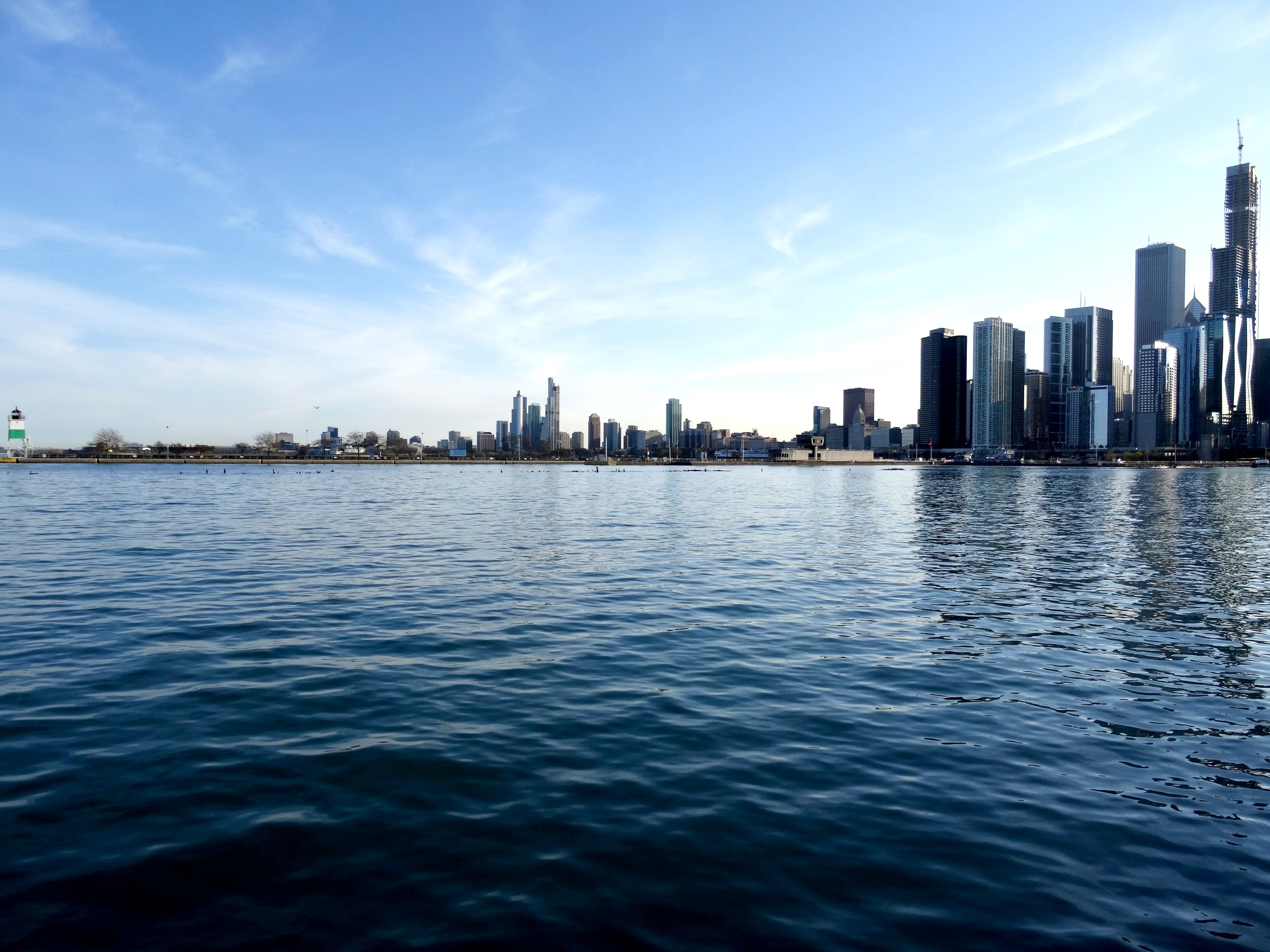 The Chicago skyline from Navy Pier