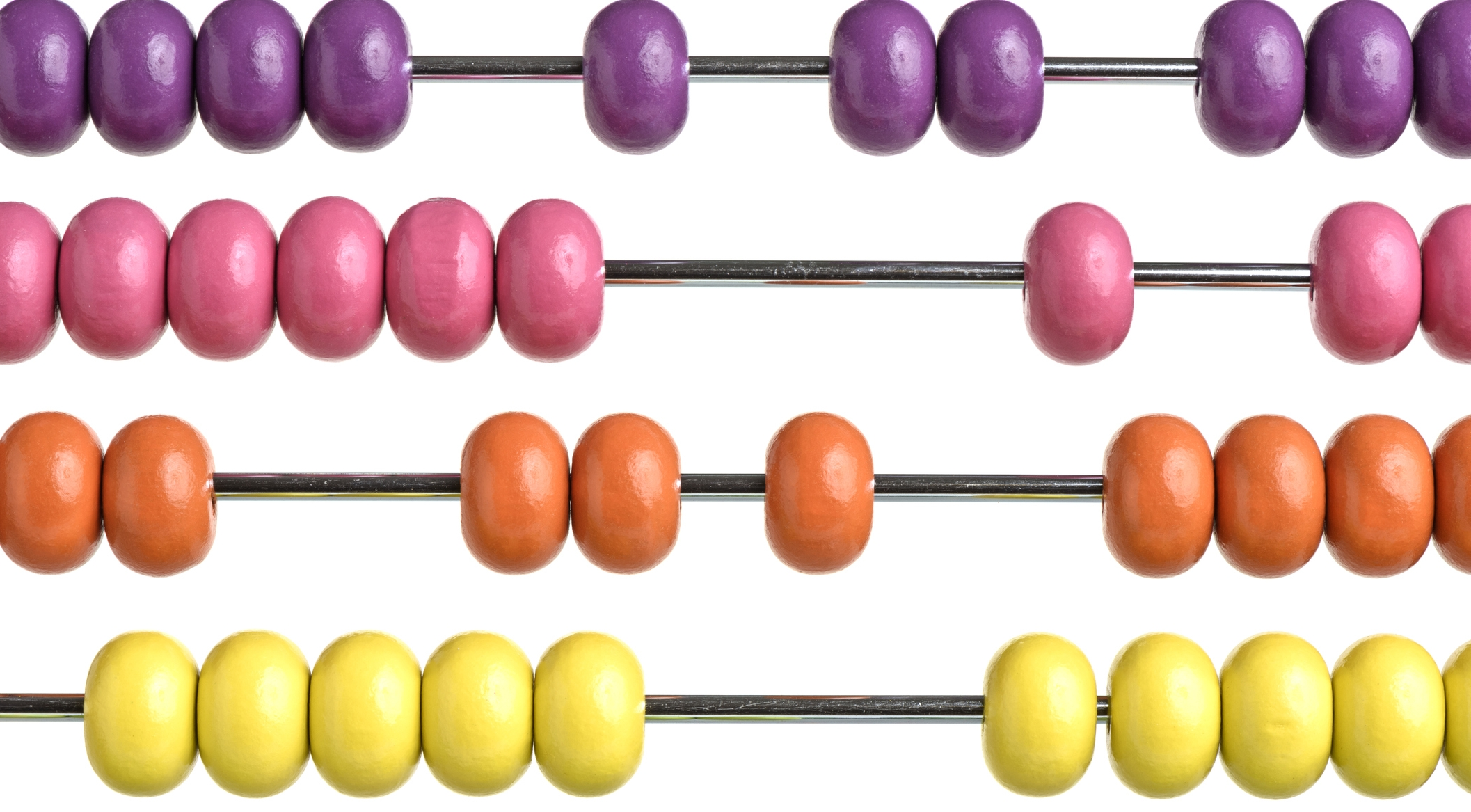 Image: An abacus with colorful beads.