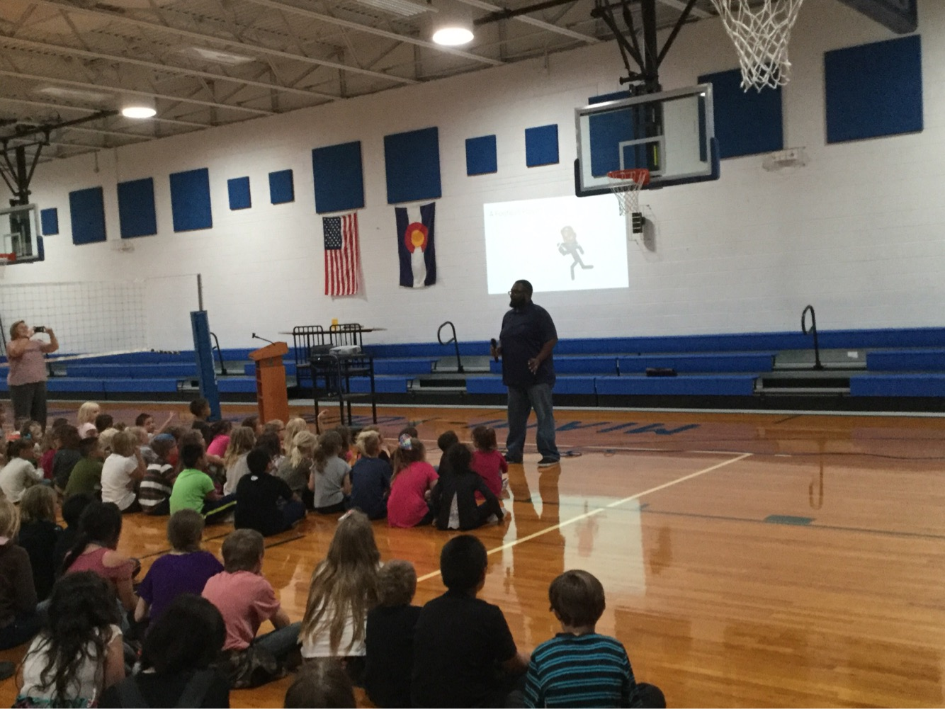 Brandon T Mayes school visit at Miami-Yoder Elementary in Rush, CO.