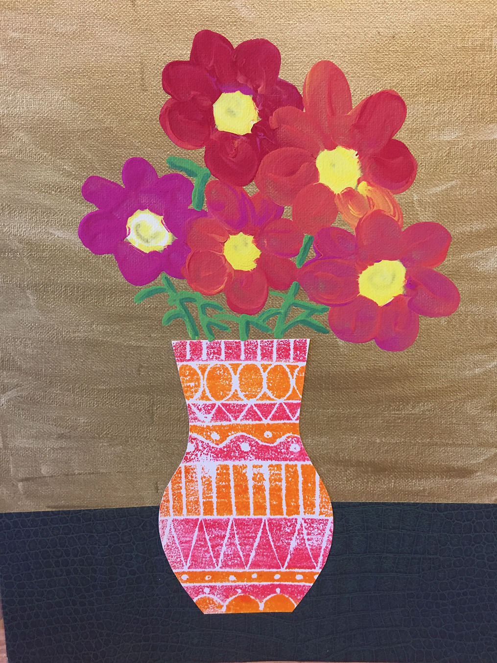 printed vase, blooms on gold.jpg