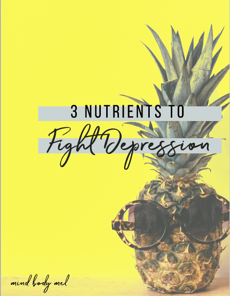 Do you struggle with depression? - You are not helpless, my friend.This guide includes…↠ The three nutrients to focus on in your diet to help stabilize mood↠ A delicious recipe that combines all three nutrients for a powerhouse punch↠ Support for your healing journey using good mood food