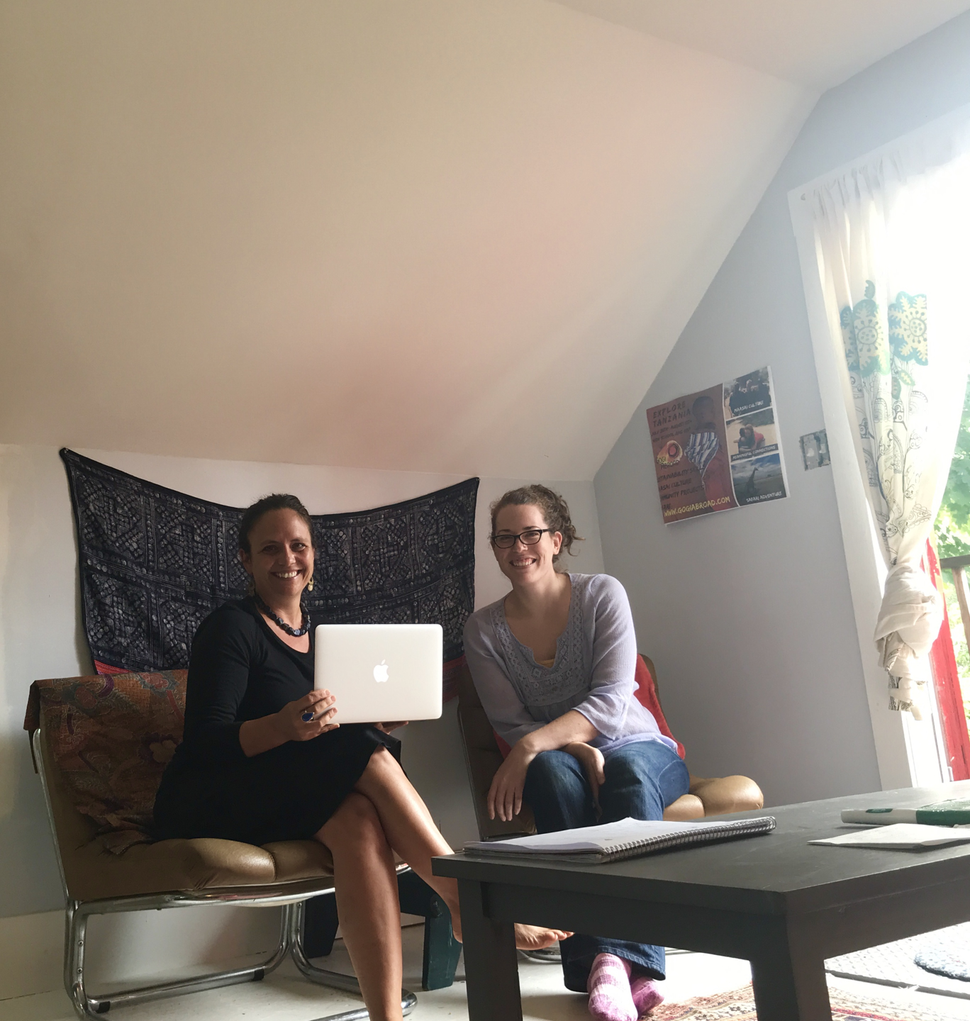 Liz Jackson and Office Manager Leigha Allen in the Gogi office