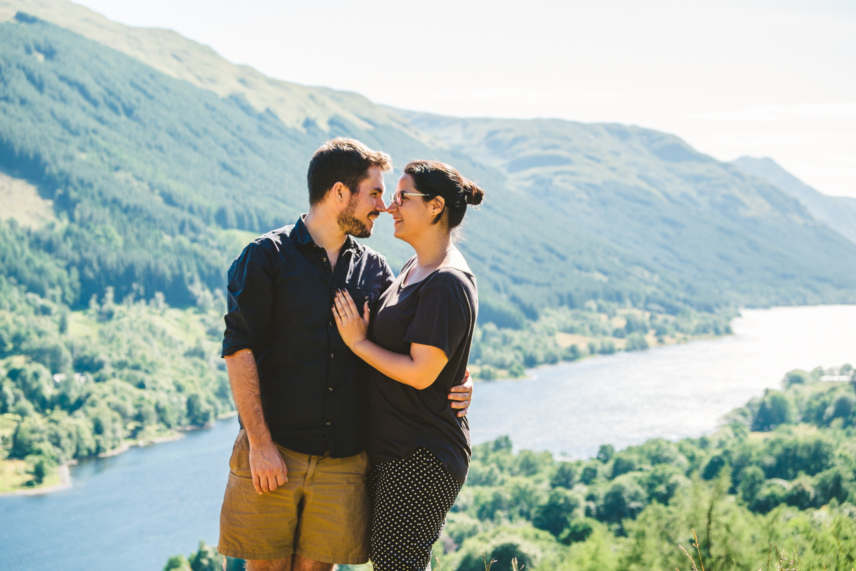 Moments after our engagement in Scotland…yes, I set up a self-timer…