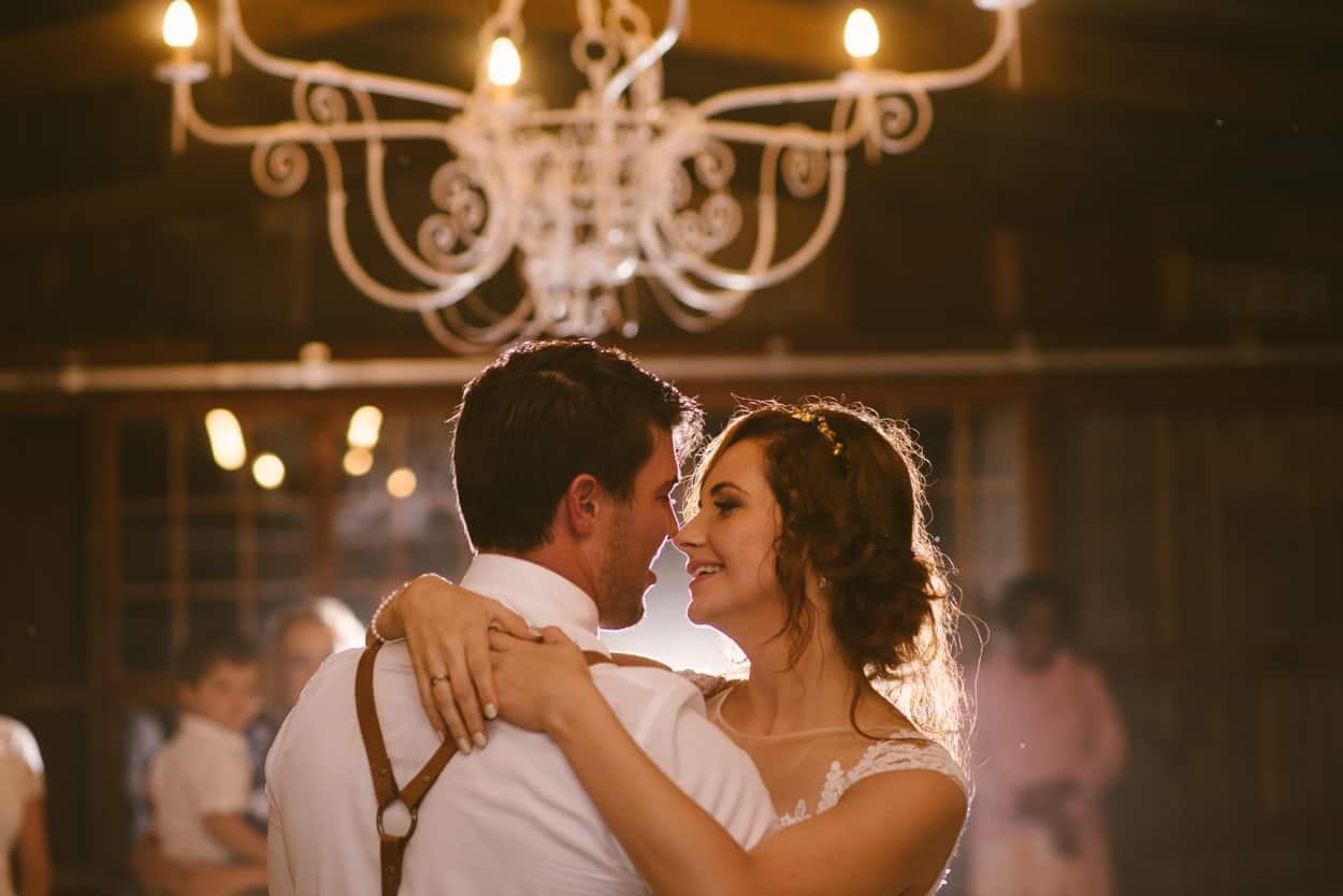 Bride & Groom Dance at English Countryside Wedding