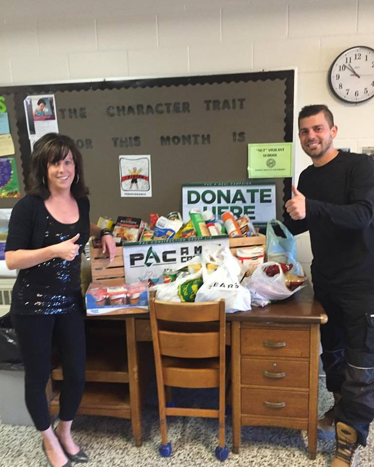 """Mrs. Alyson Turco And Team At Isabel Fletcher Participating In The """"PAC A Meal"""" Campaign."""
