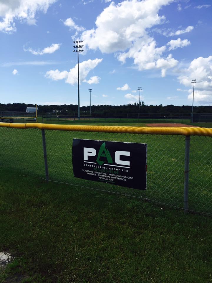 Baseball Diamond Sponsorship And Pitcher Mount Turf Donation - Sinclair Yards
