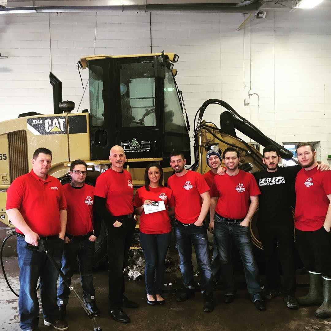 """Getting Our Loader Washed At The Yearly Superior Nissan """"Car?"""" Wash In Support Of Congenital Heart Disease."""