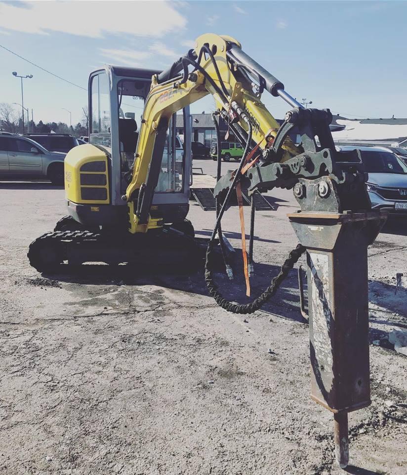 Jack Hammer Concrete Demolition Attachment