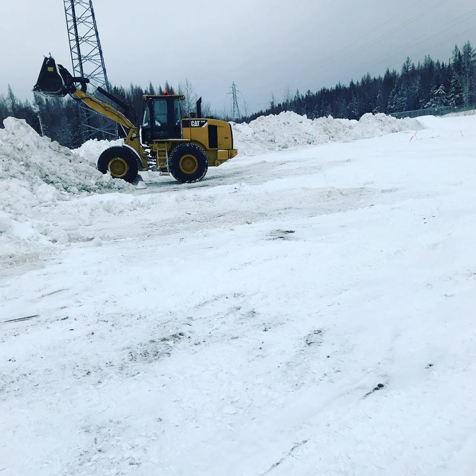 Banking Snow Piles At Our Snow Dump Site