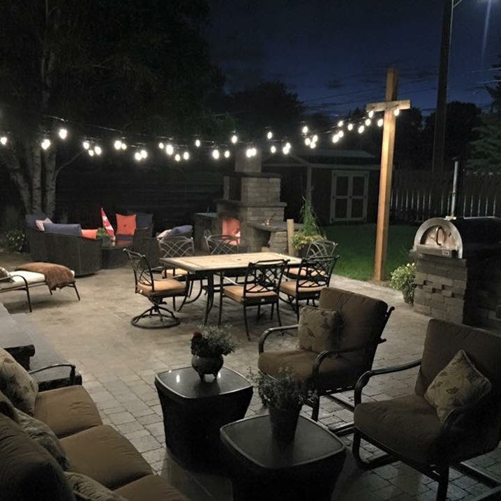 Backyard Retreat Patio With Our Strada Antico Paver And Barkman Fireplace Install