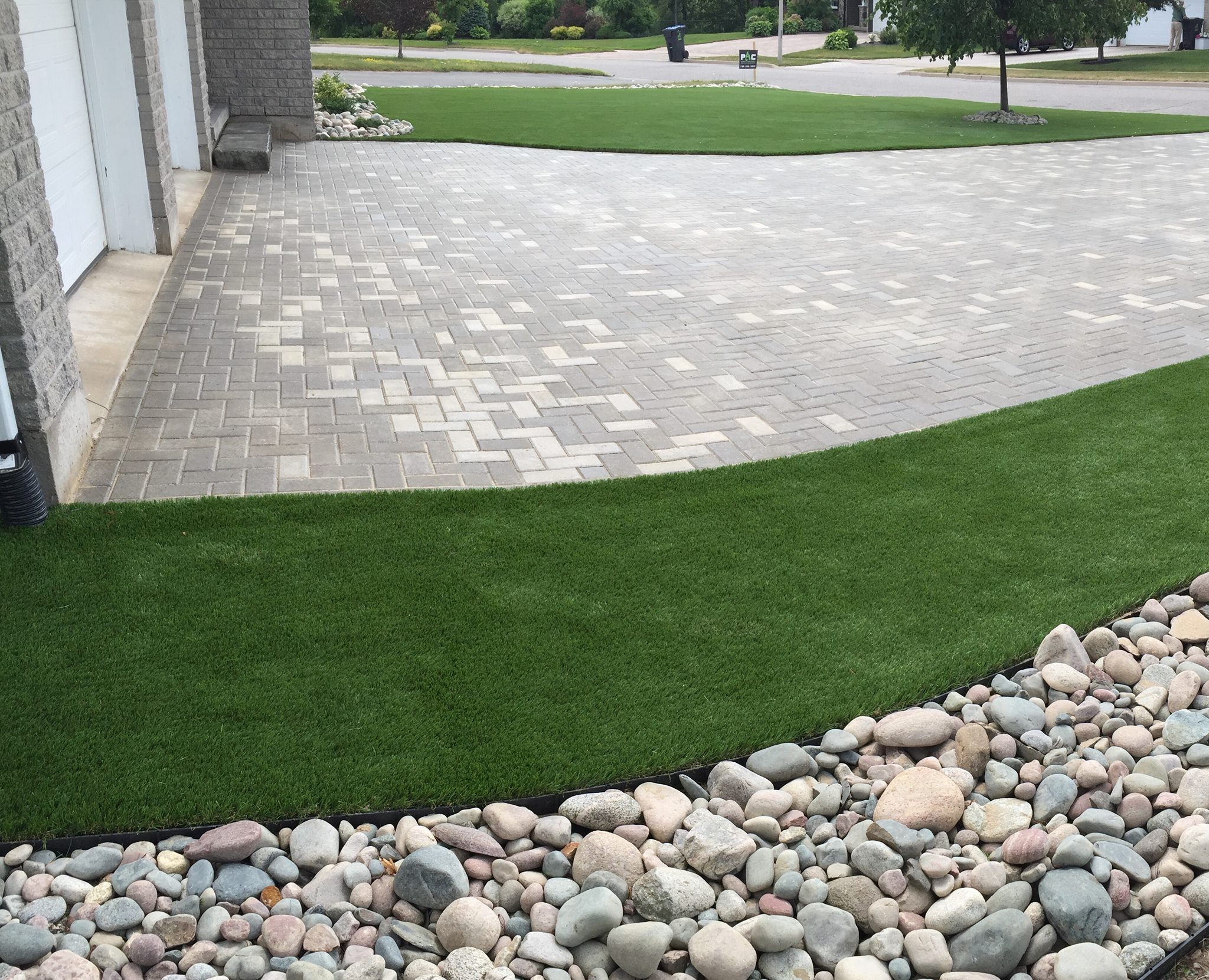 Residential Turf Install and Interlock Driveway