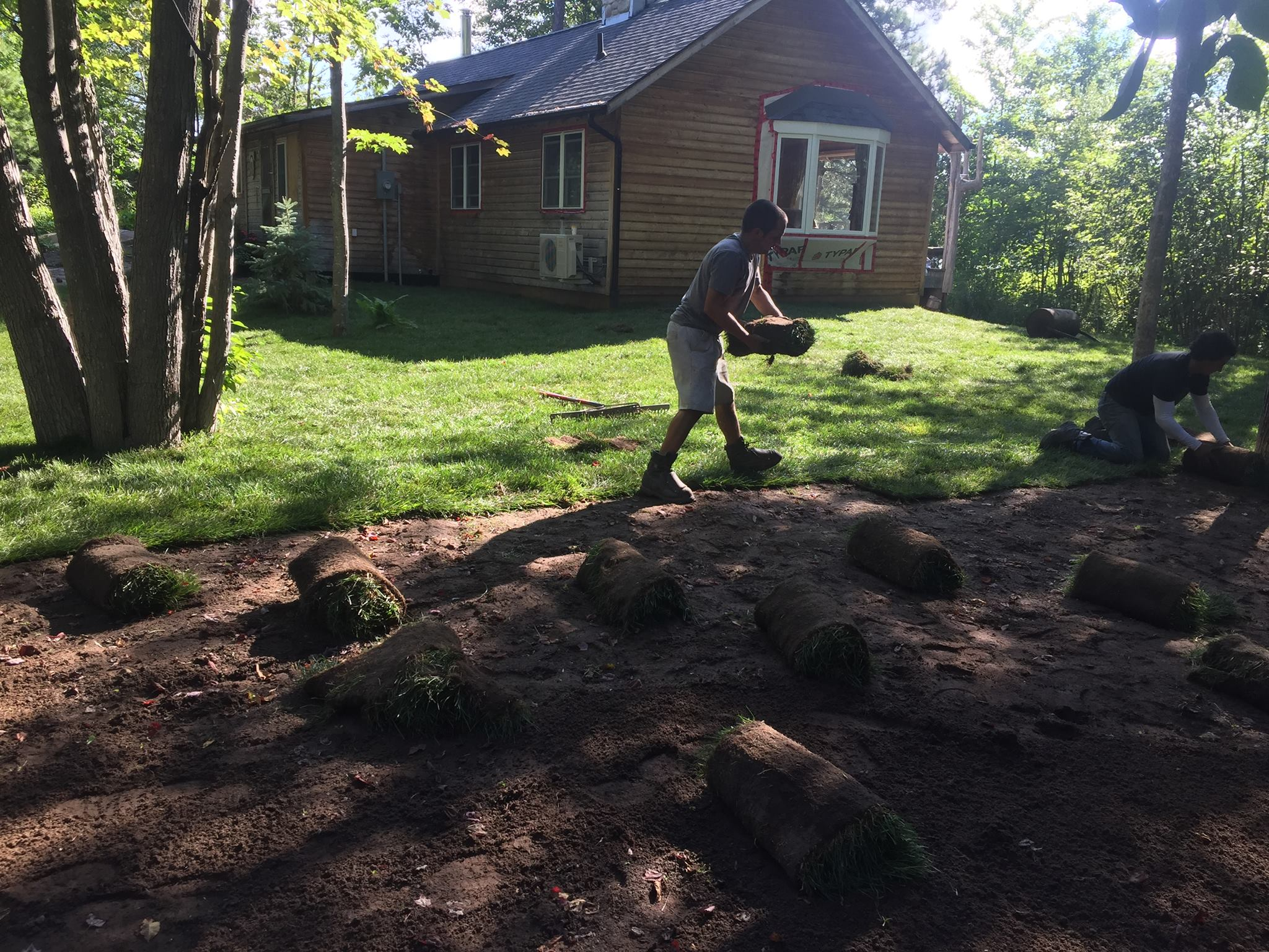 Cottage Sod Prep & Install
