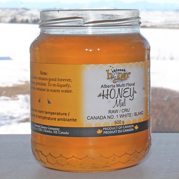 Alberta Multi Floral Liquid Honey by Chinook Honey - This is one of the best all natural and unpasteurized honeys I've ever used. In addition, they're local!