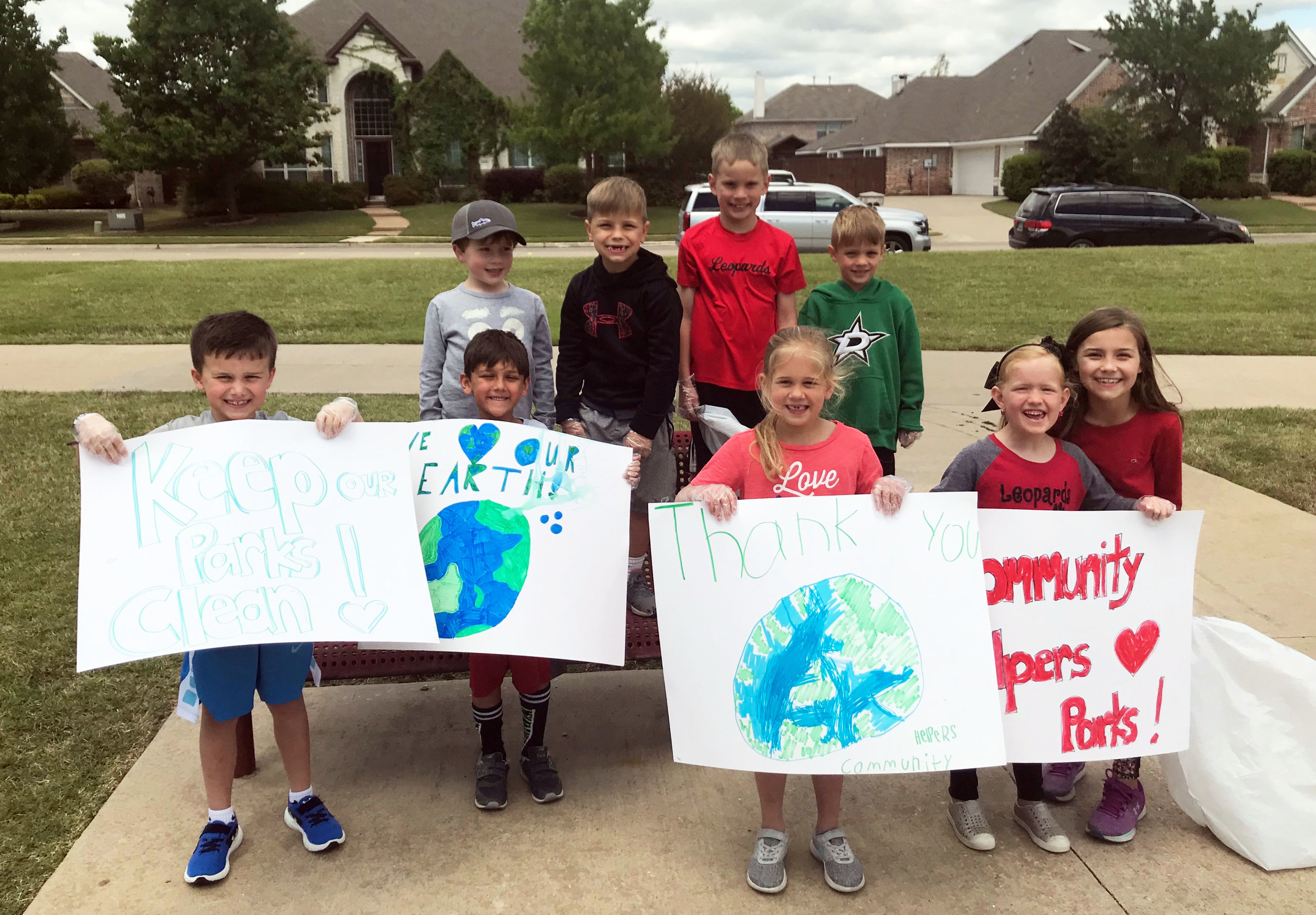 (L to R) Top Row: Reid Broyles, Blake Oleson, Jake Adcock, Ethan Sommers; Bottom Row: Weber Rainey, Naveen Sullivan, Ella Rogers, Jordan Wammack and second grade big sister, Taylor Oleson.