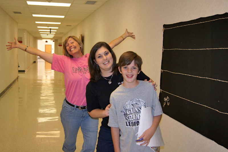 2011 - 5th grader  Landon Bruner (Front), Michela Tindall (Middle) and Shannon Zundel (Back).