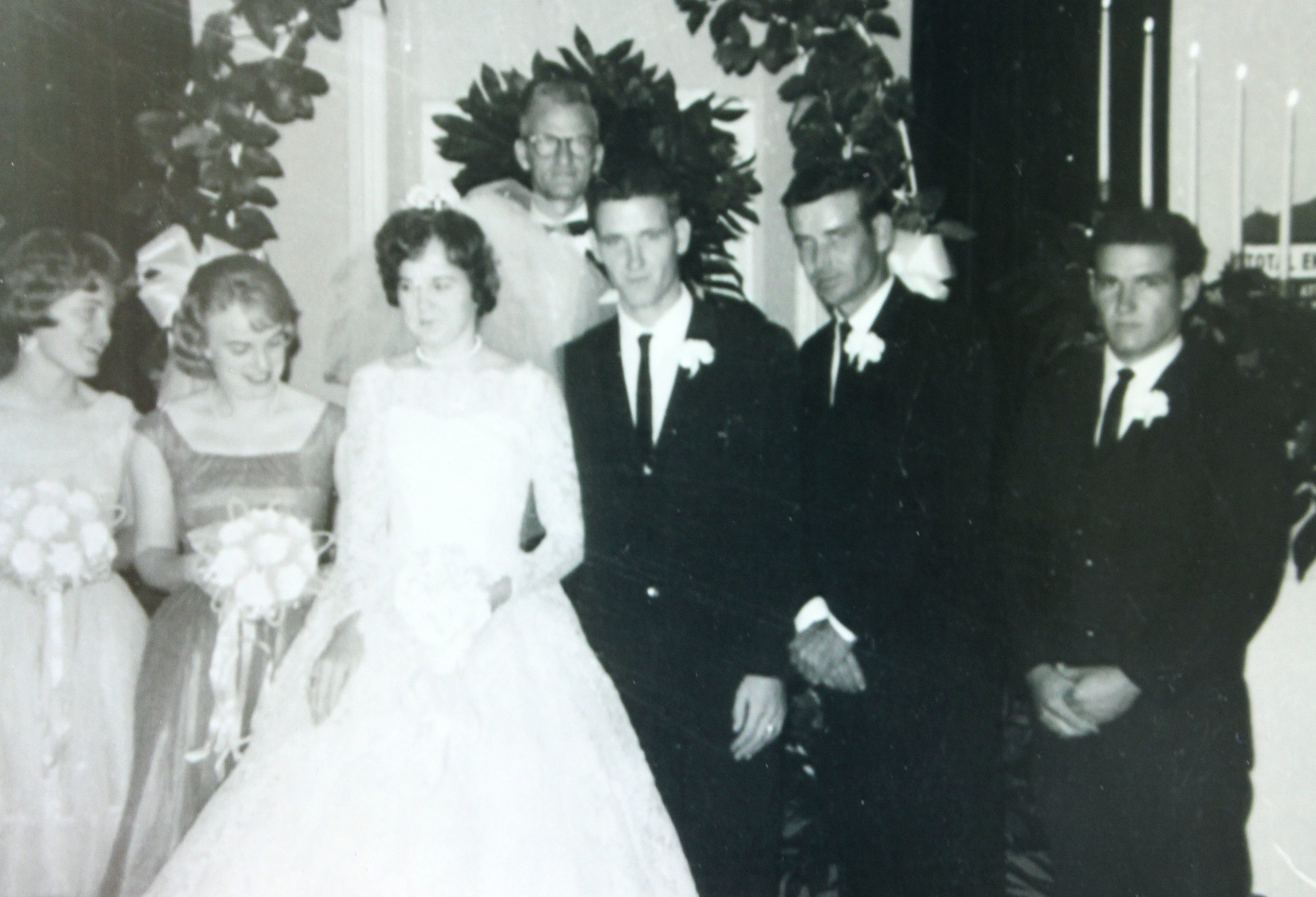Suzanne and David on their wedding day in 1964.