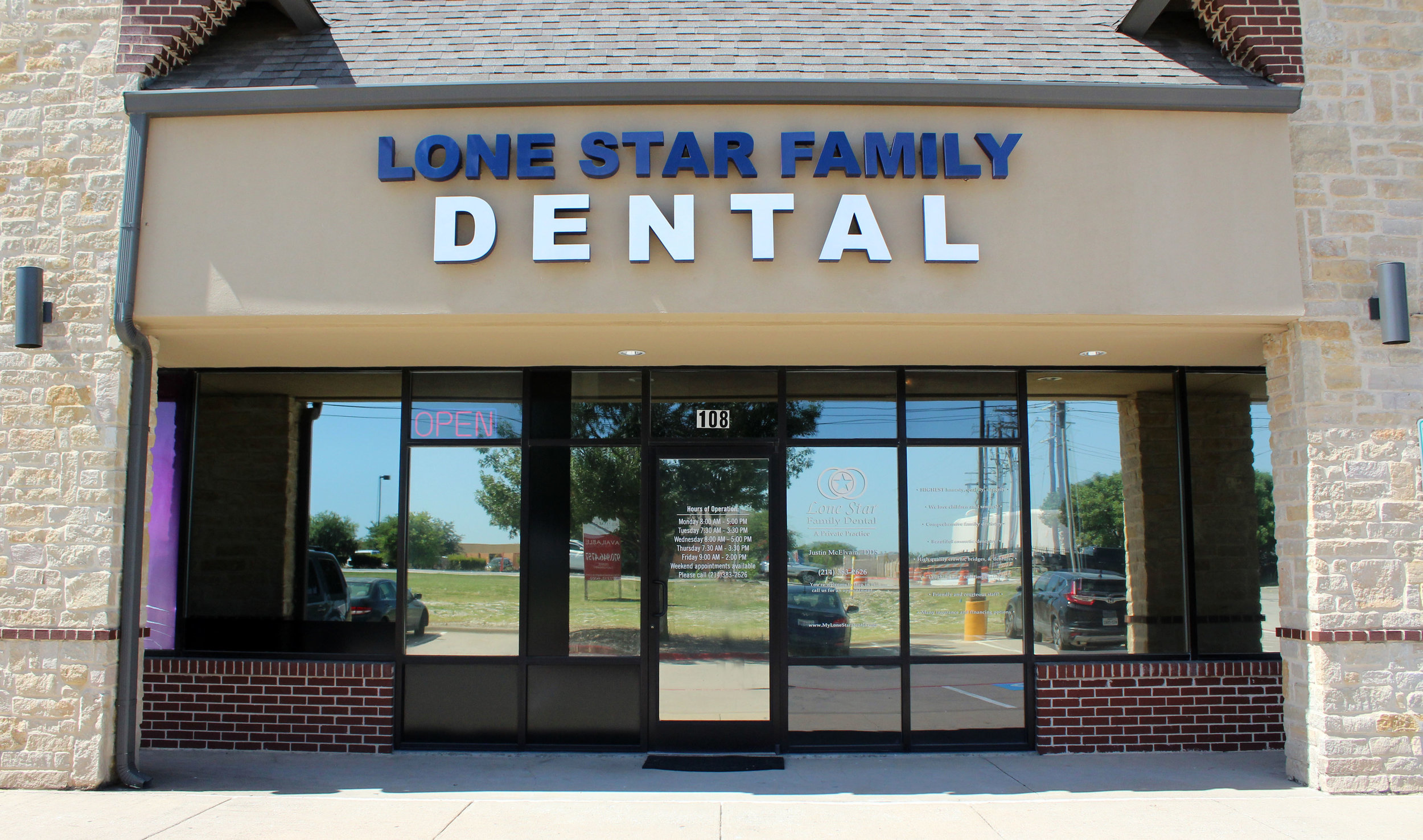 Lone Star Family Dental is located at 431 E. Stacy Rd, Suite 108, Fairview 75069.