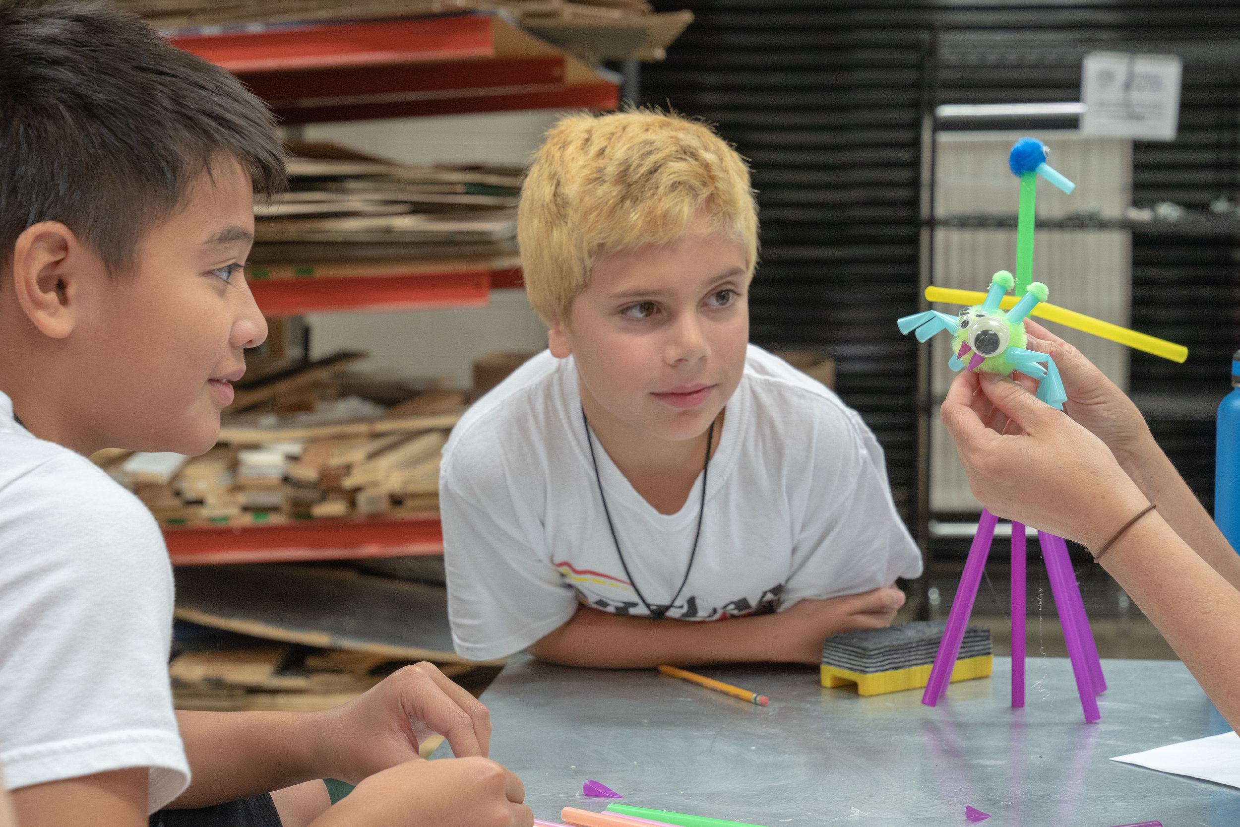 Developing student's imaginations lays the foundation for skills need to build exciting scenery.