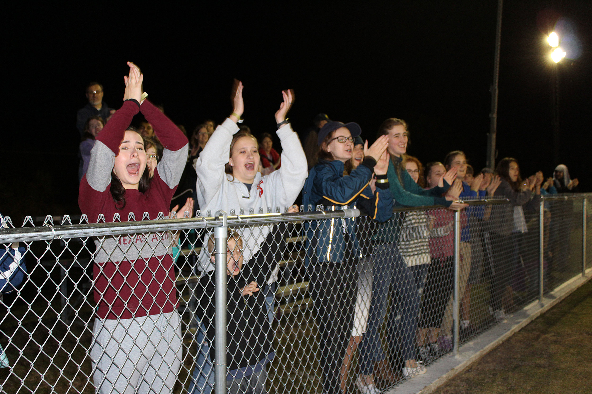 Members of local churches filled the stands to cheer on the Gainesville Tornadoes.