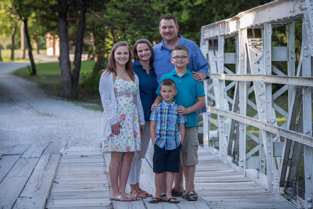 The Haven family has lived in Lucas for nine years.