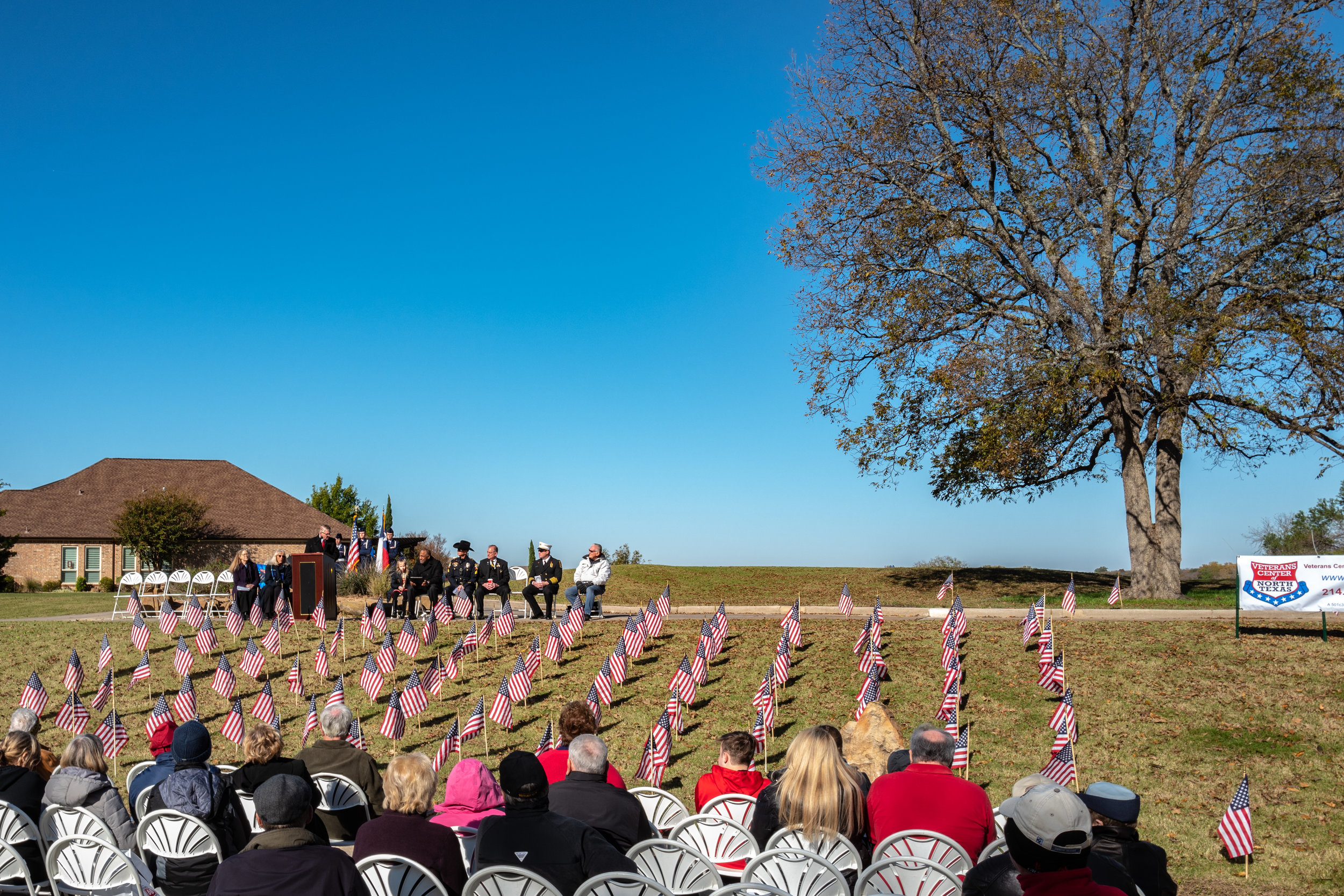 Despite the cold, about 100 attended the Flags of Honor Ceremonies.