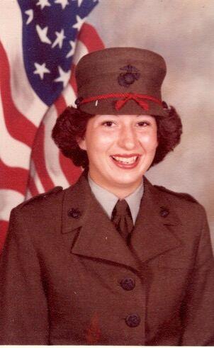 Joni Clarke, 19-year-old Marine recruit at Parris Island, South Carolina.