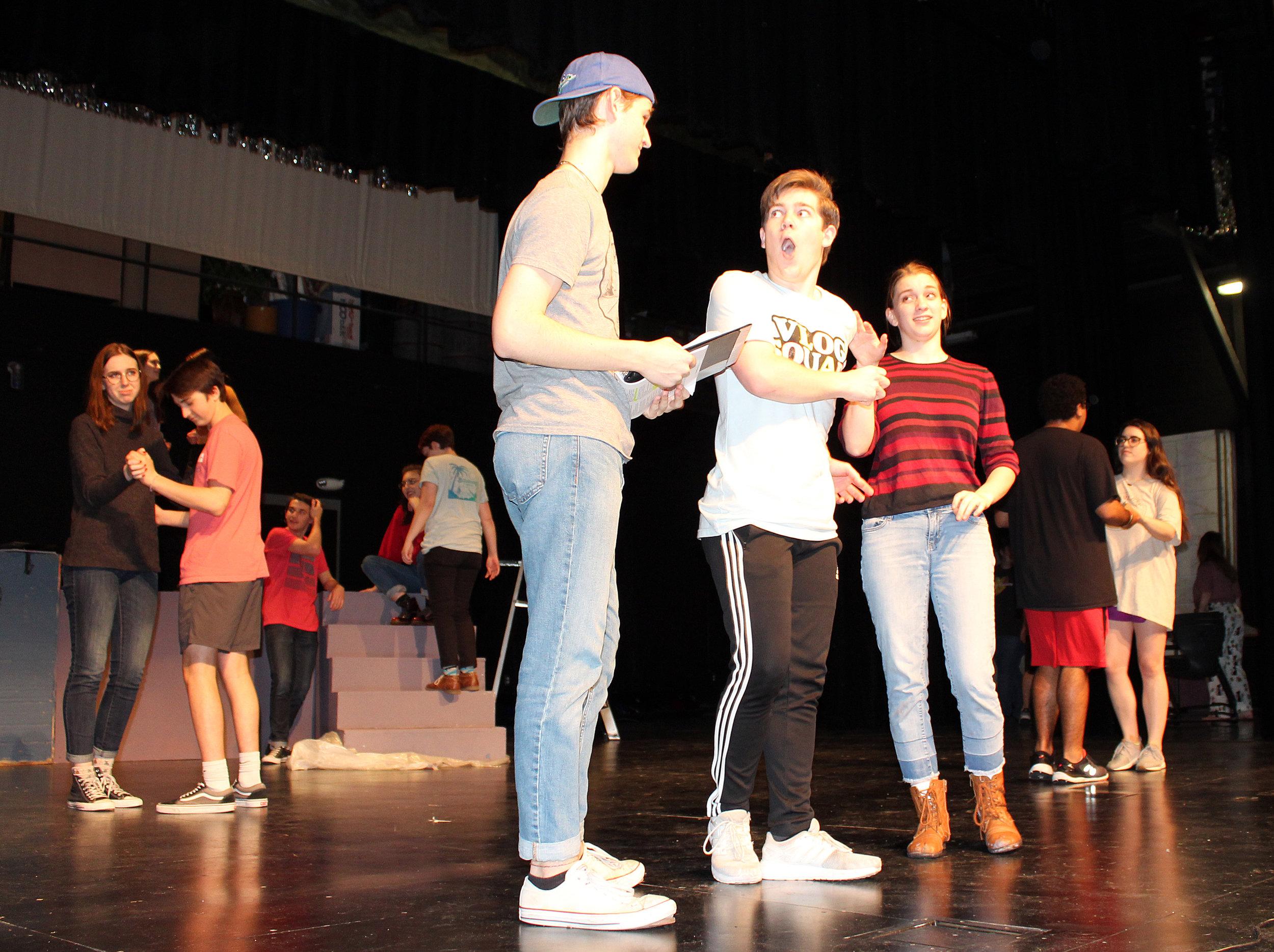 Bryce Fuller (Danny), Alec Welhouse (Eugene), and Marcie Sawyers (Patty).