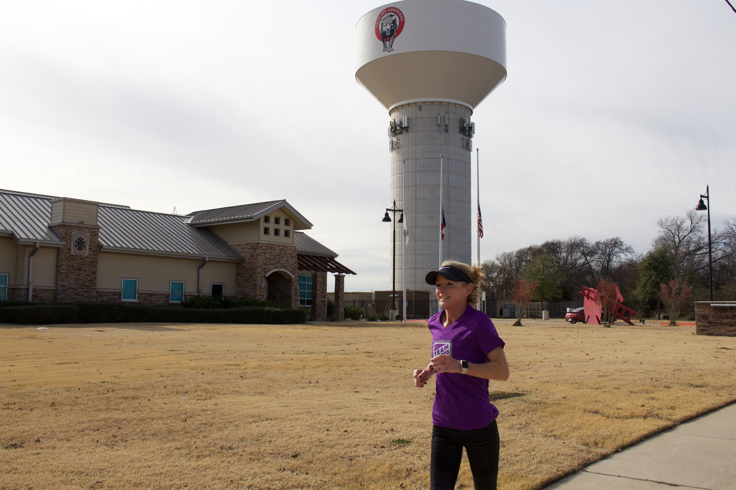 Tracy Sutherlin, the North Texas Leukemia Society Team in Training Representative, trains in Fairview.