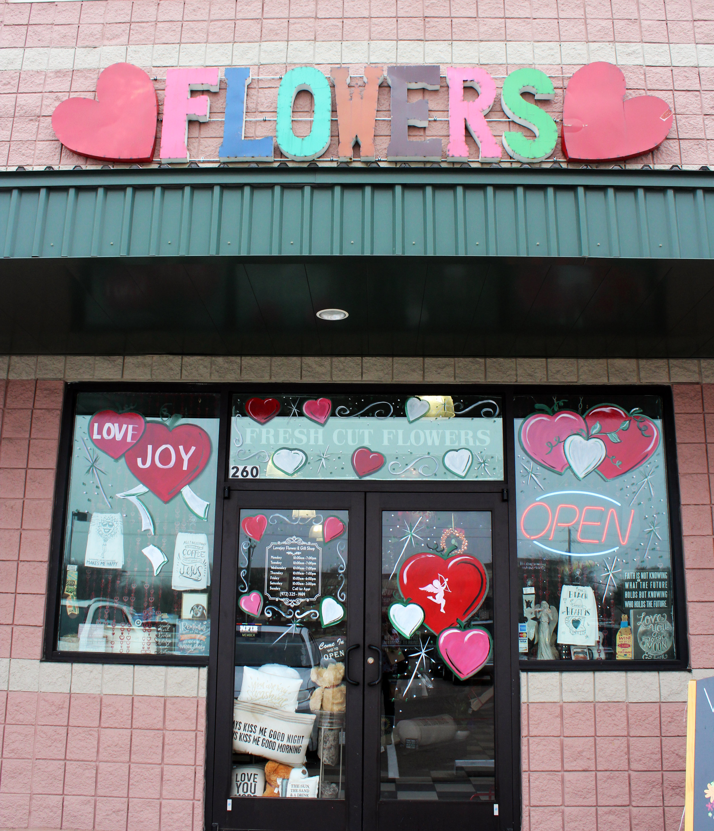 Lovejoy Flower and Gift Shop is located at 1545 E. Main St. in Allen.