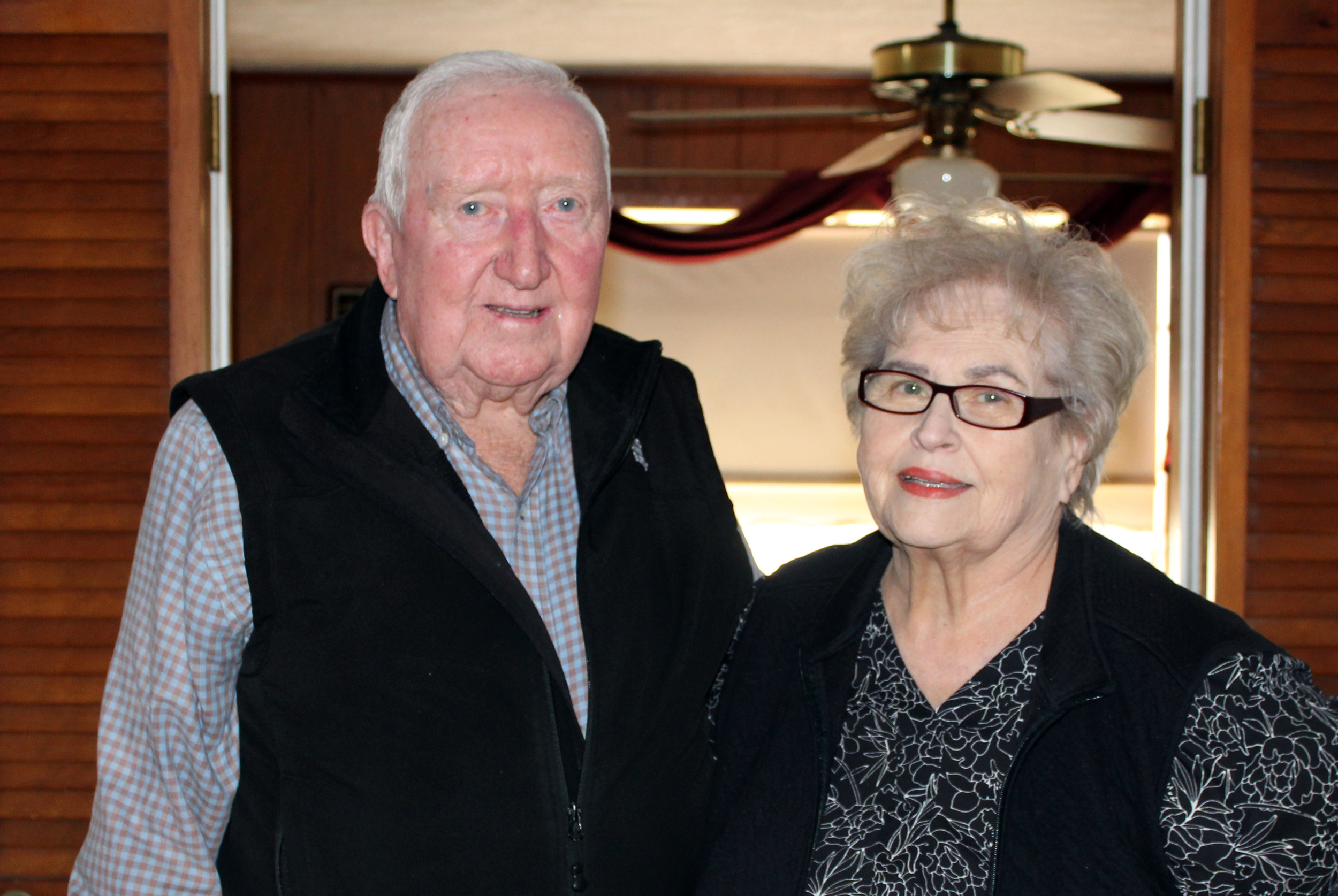 Dale and Barbara Spurgin in their home in Lucas