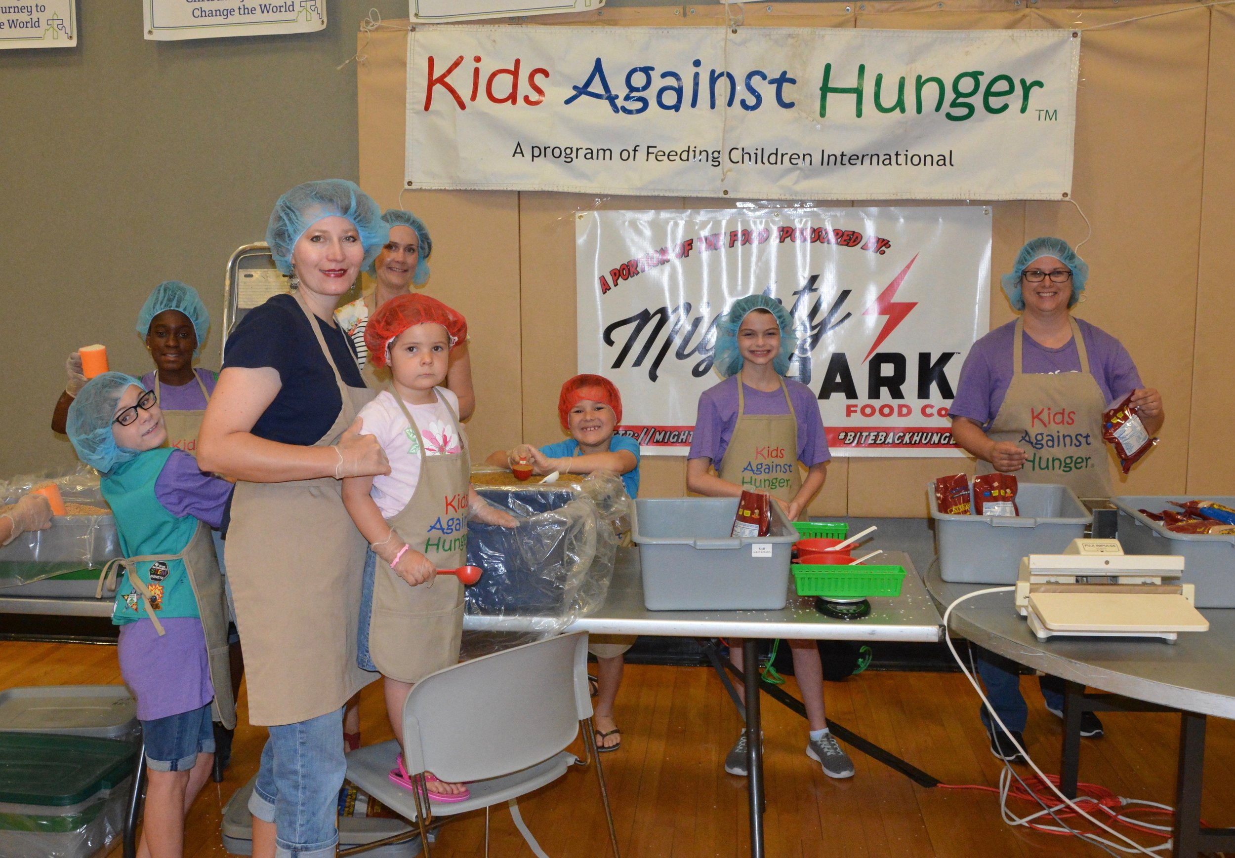 12,000 meals were prepared for Kids Against Hunger last year.