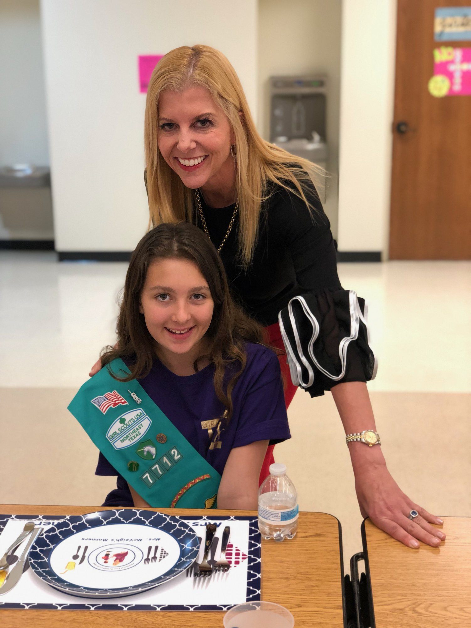 Elise McVeigh teaches a one-hour class to Girl Scout troops. This class will help troop members earn their Etiquette Badge.