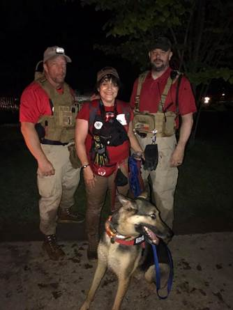 : Members of Lonestar Search and Rescue were instrumental in finding the missing Lucas resident.