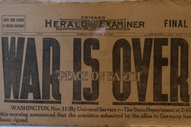 Banner headline of that day's Chicago Herald Examiner.