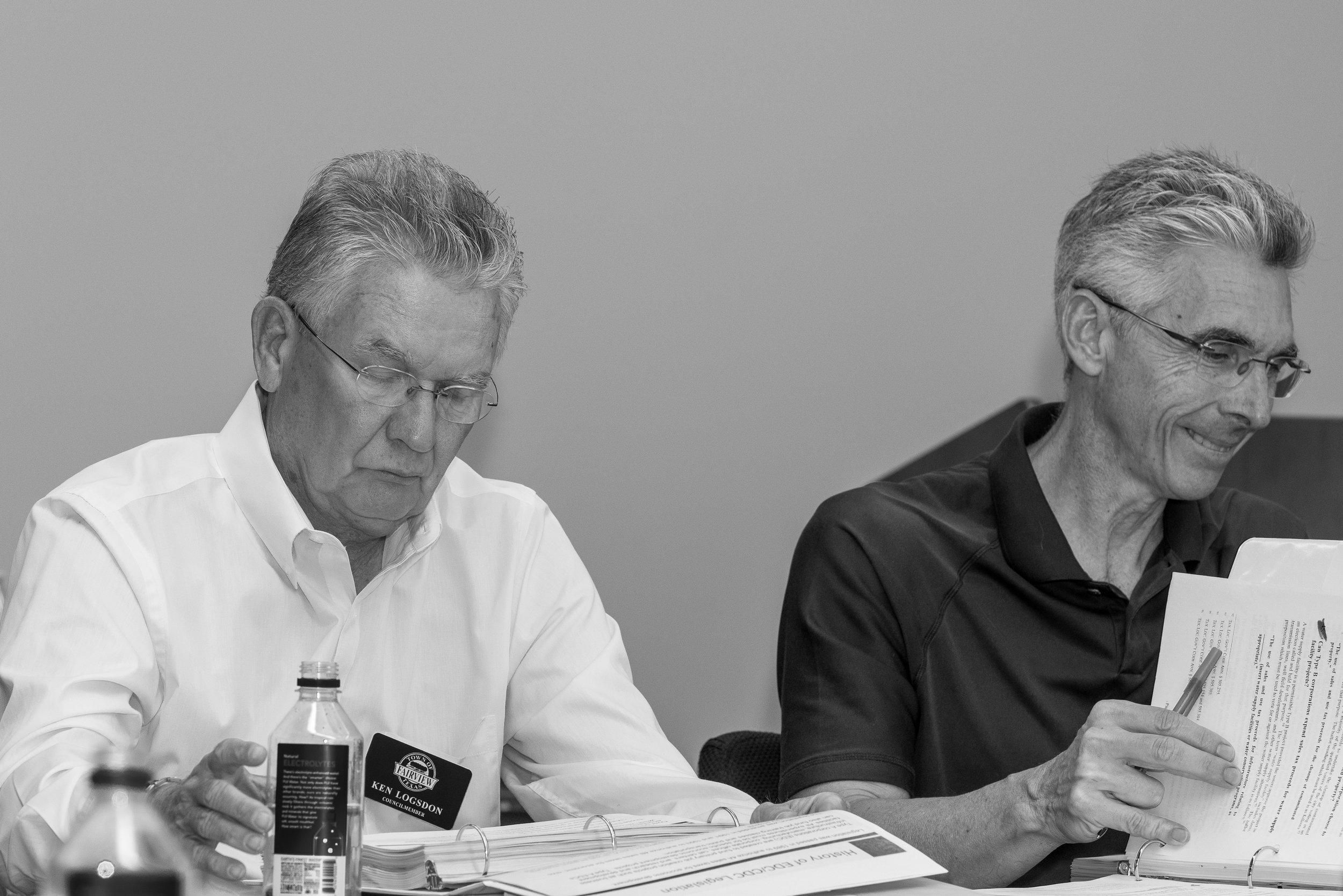 fairview councilCouncilmembers Ken Logsdon (l) and Tony Mattei (r).jpg