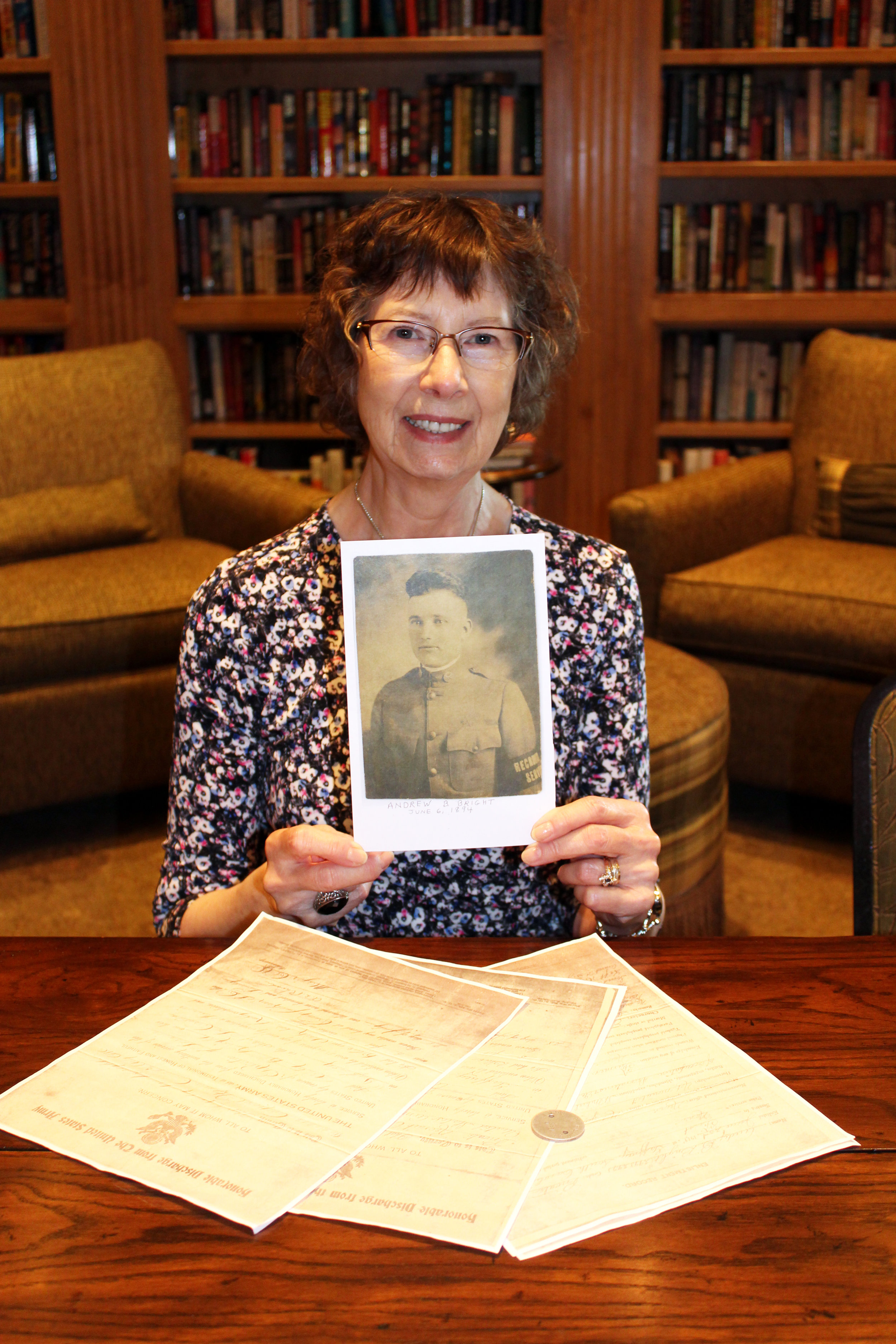 Maureen North shared memories of her father who fought in WWI.