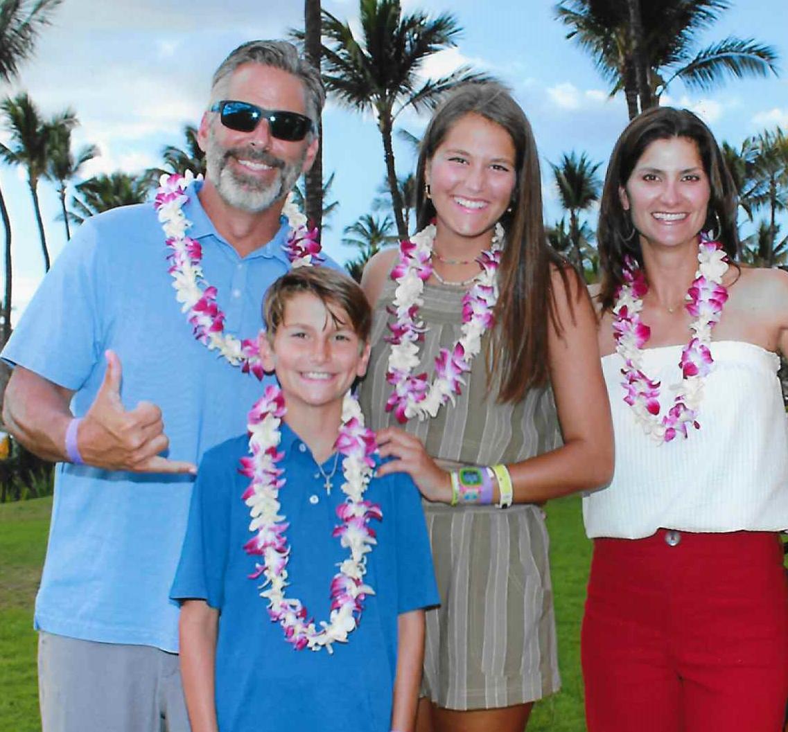 (From left) Heath Calhoun, Cash Calhoun, Jacqueline Genovese and Shelly Genovese Calhoun enjoying family time on a recent vacation.