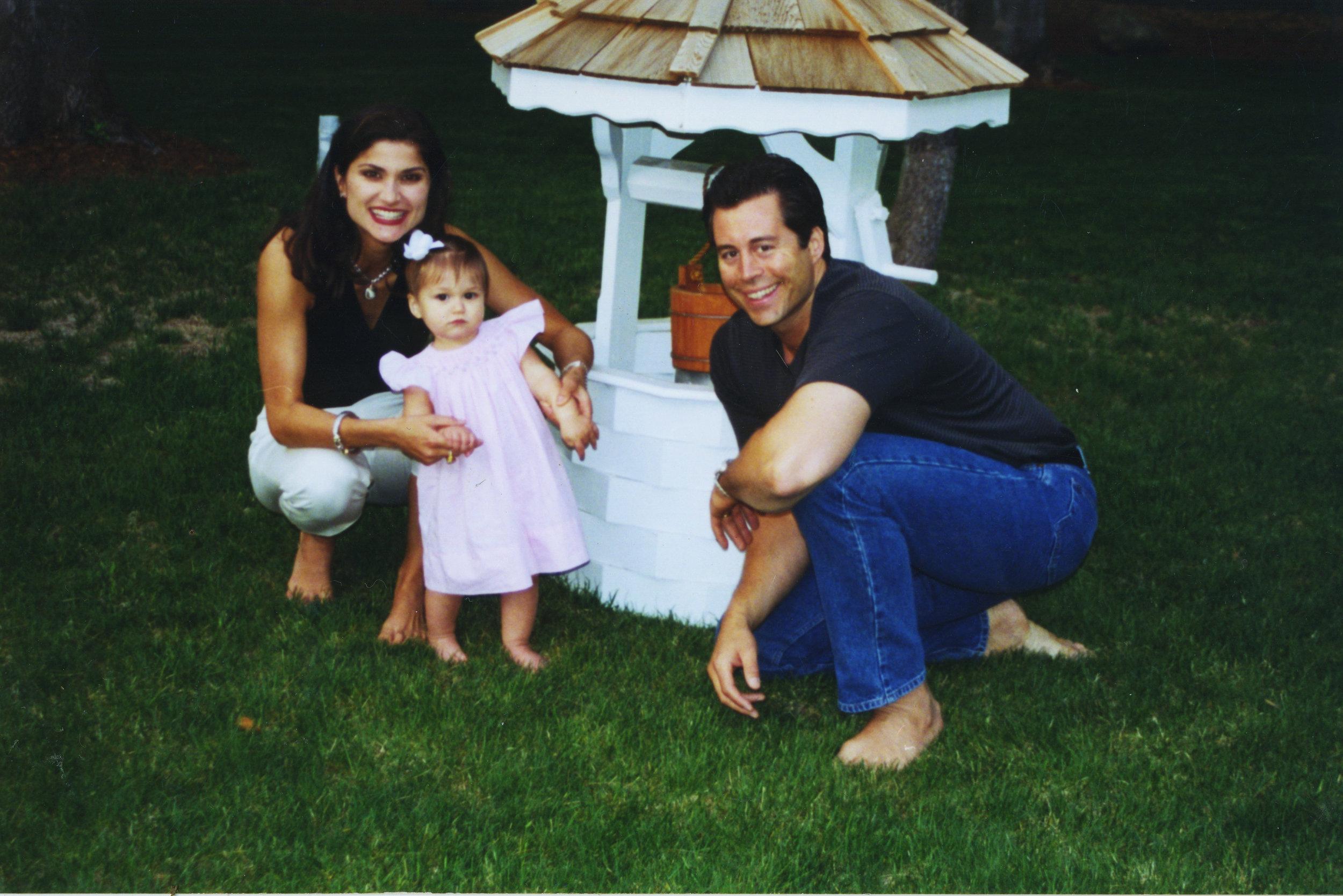 Steve, Shelly and Jacqueline Genovese enjoying family time.