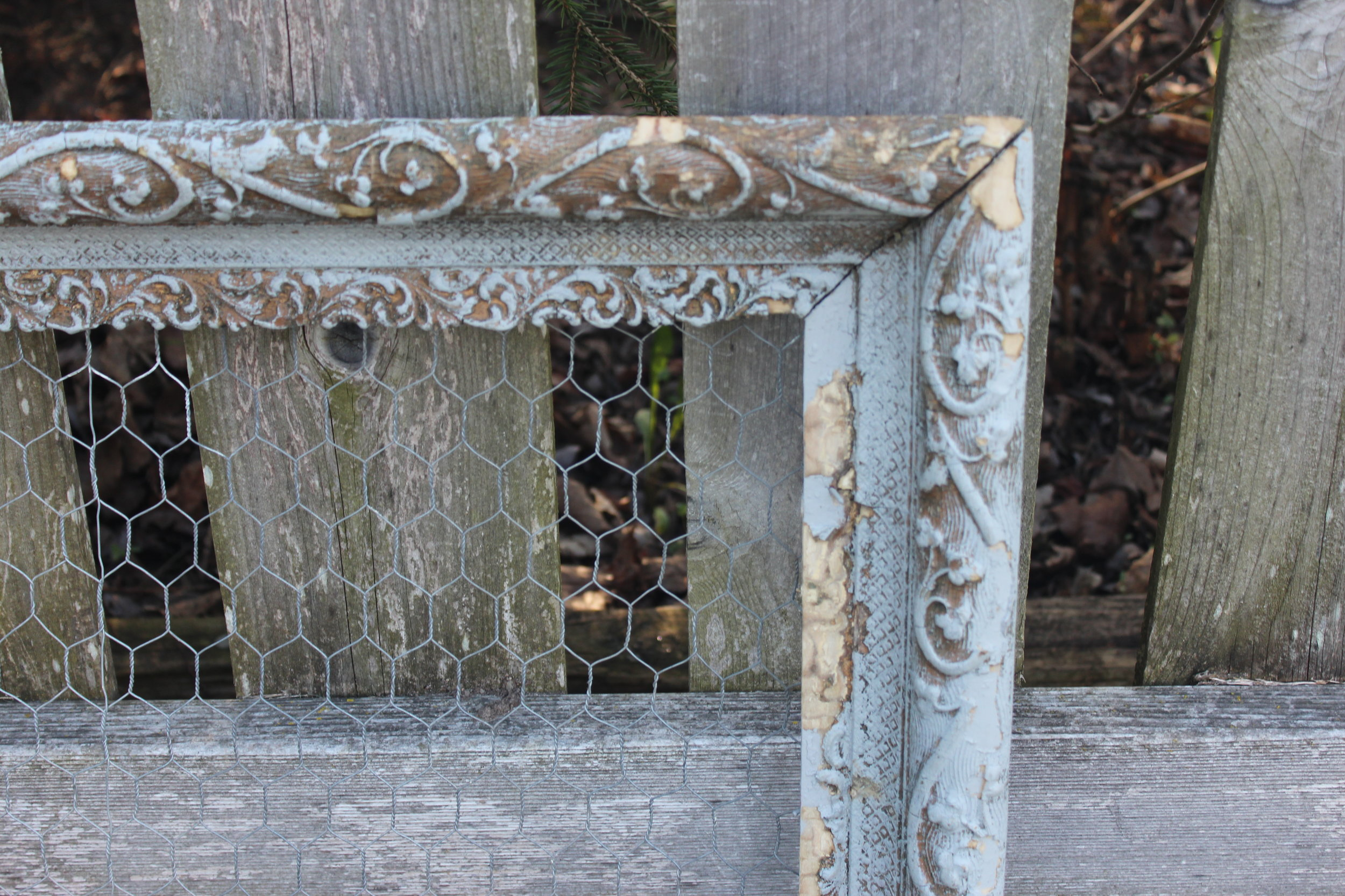 Blue Chicken Coop Frame - Close Up