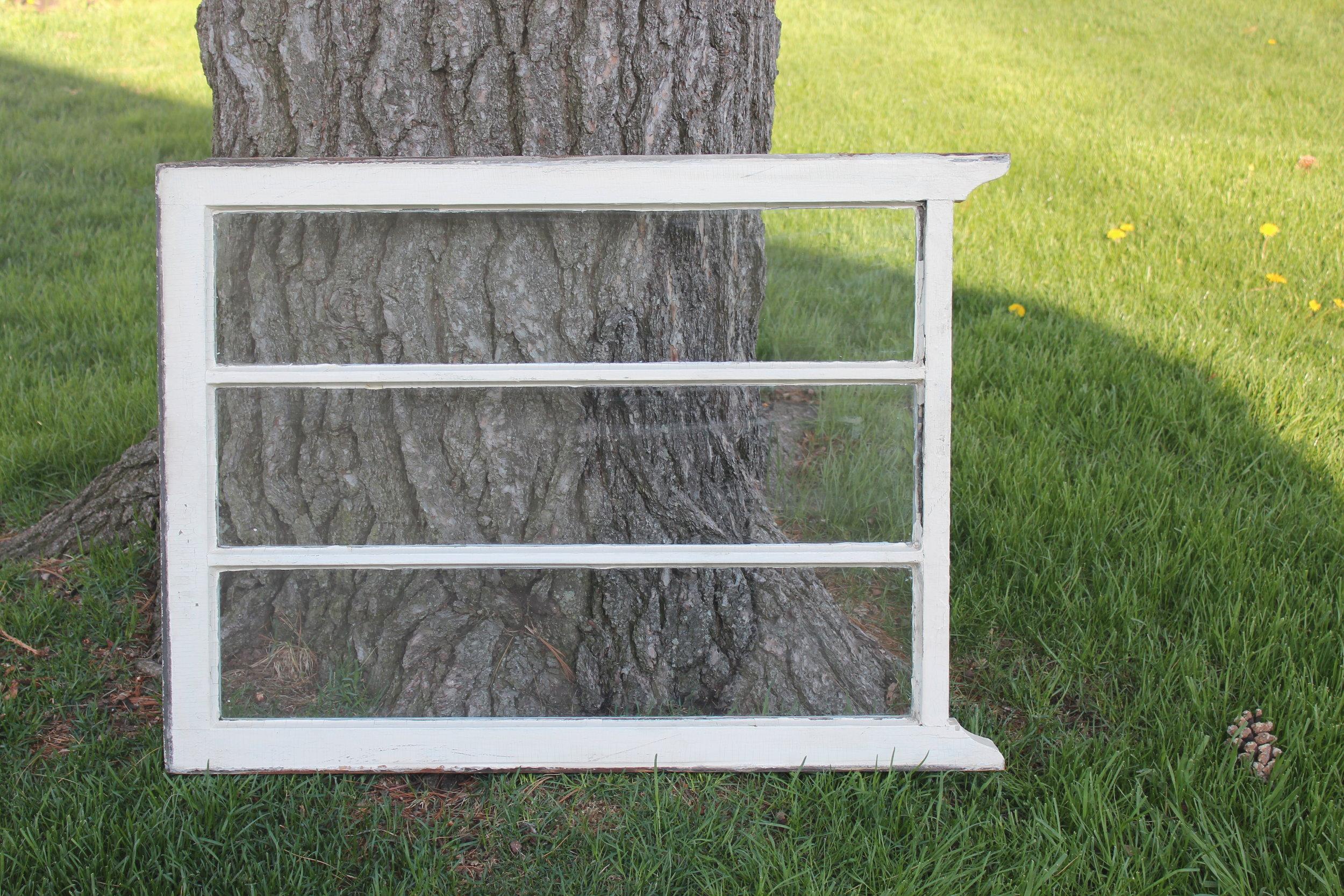White Vintage 3 Pane Window
