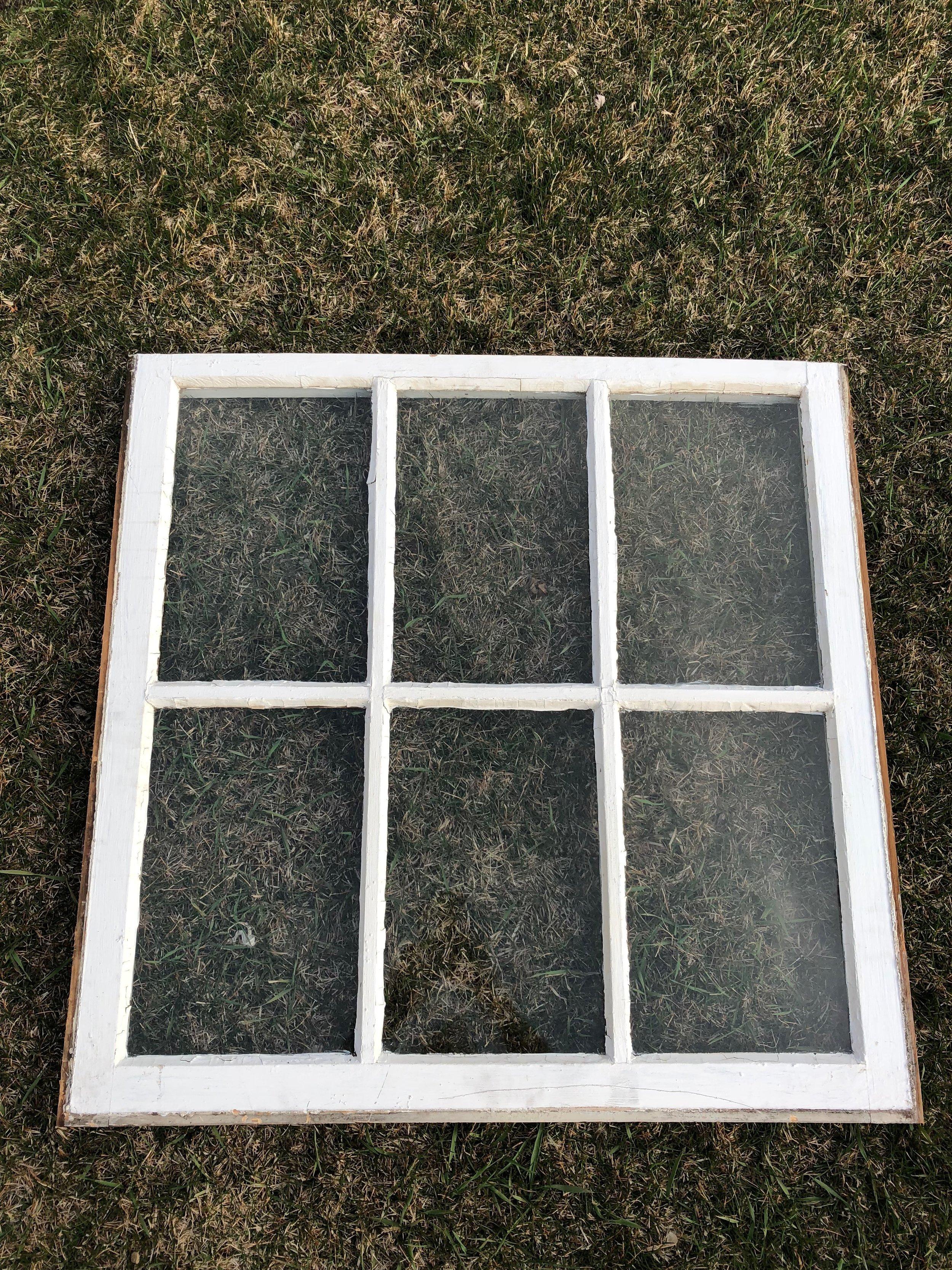 White Vintage 6 Pane Window