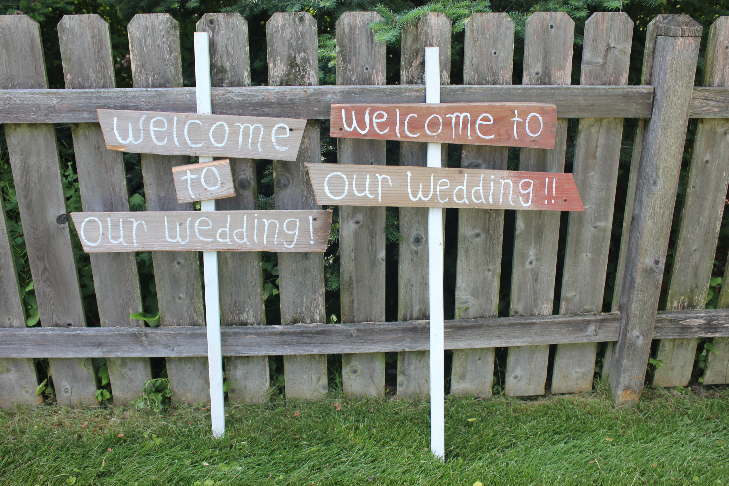 Welcome To Our Wedding Spokes - Qty 2