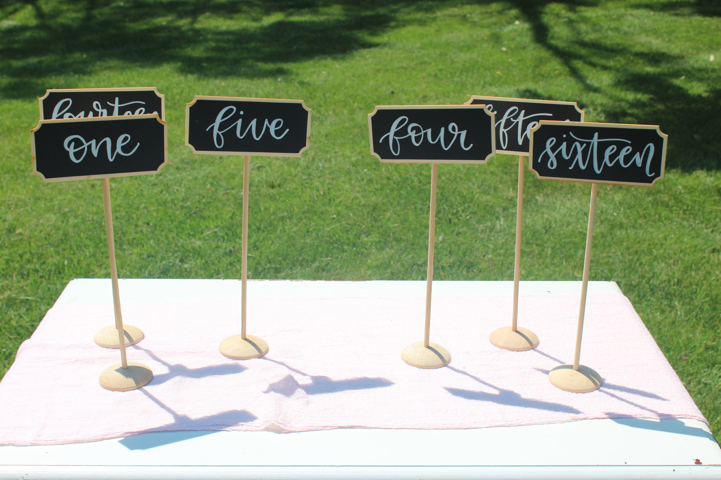 Chalk Table Numbers - Numbers 1-16