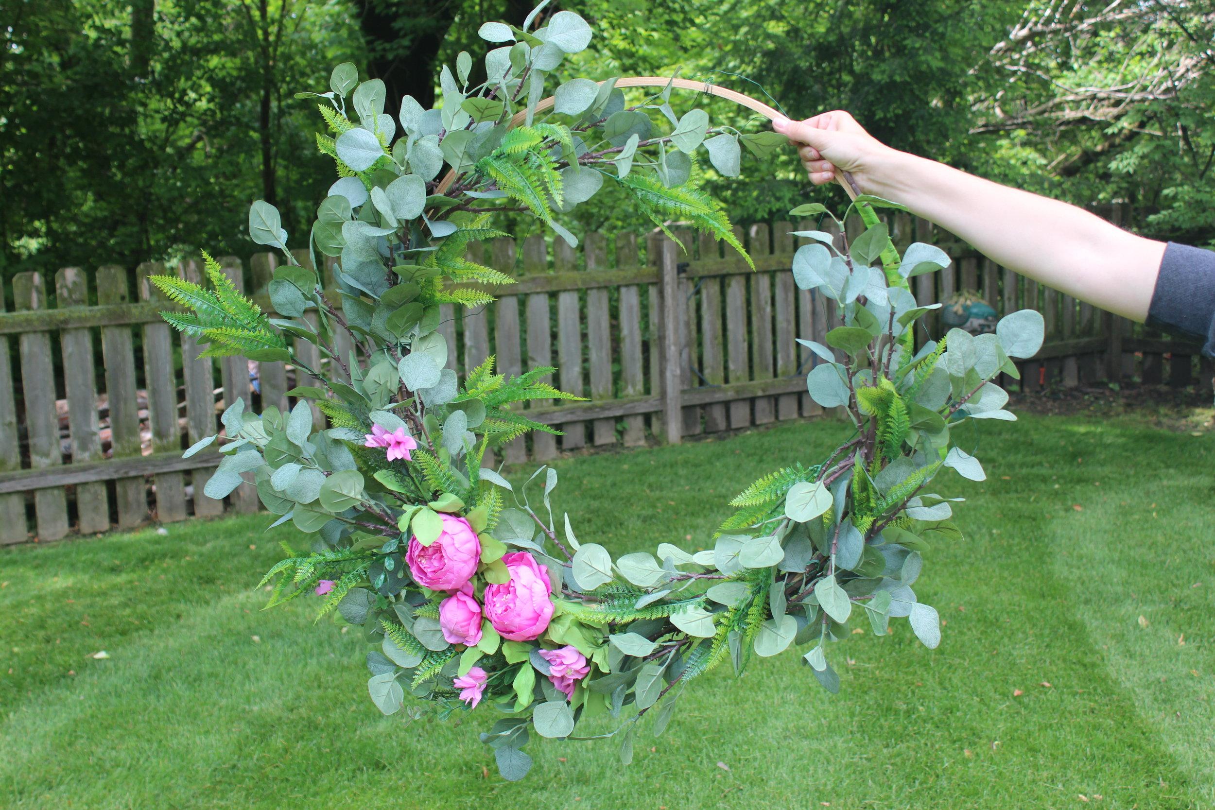 Big Floral Hoop