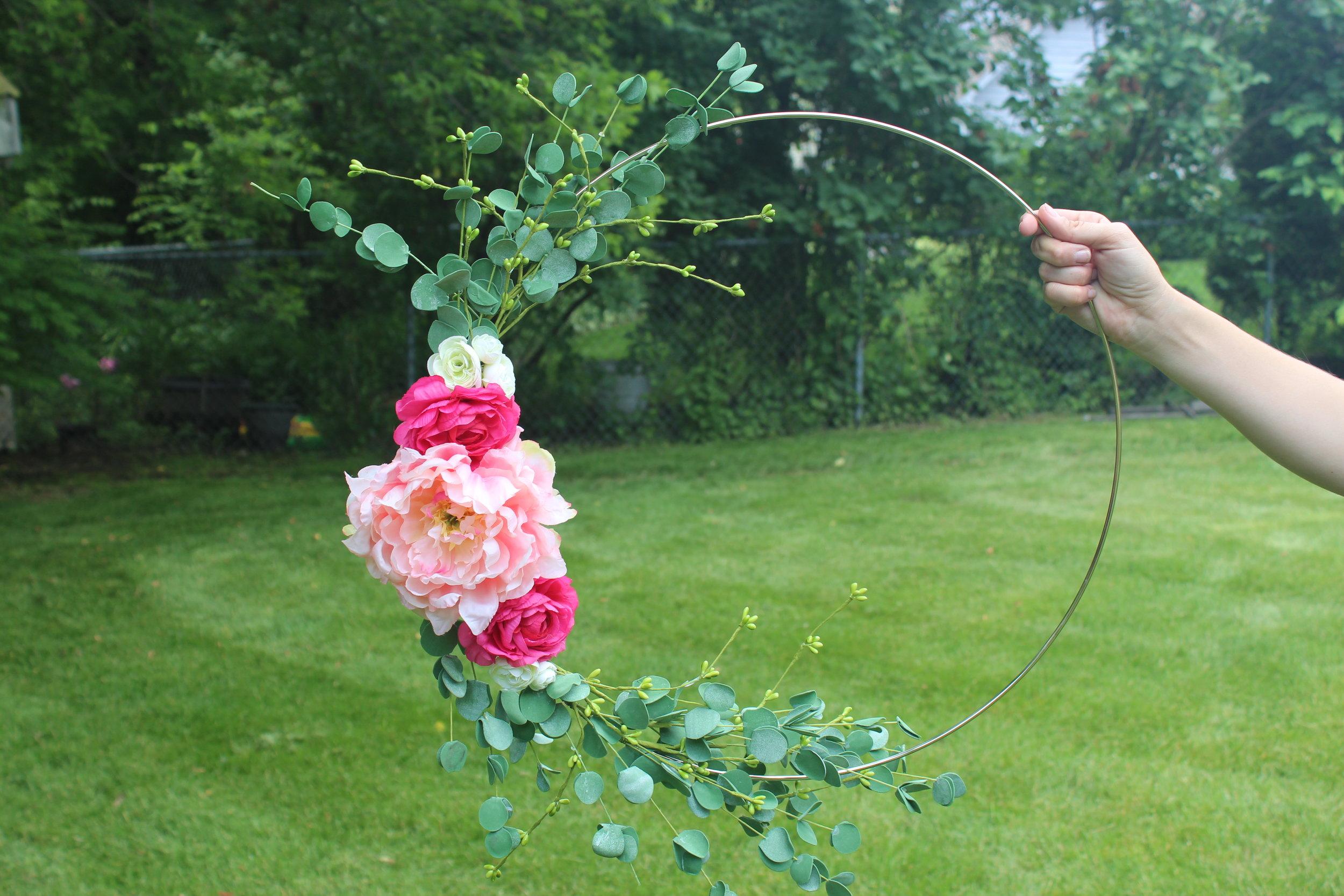 Medium Floral Hoop