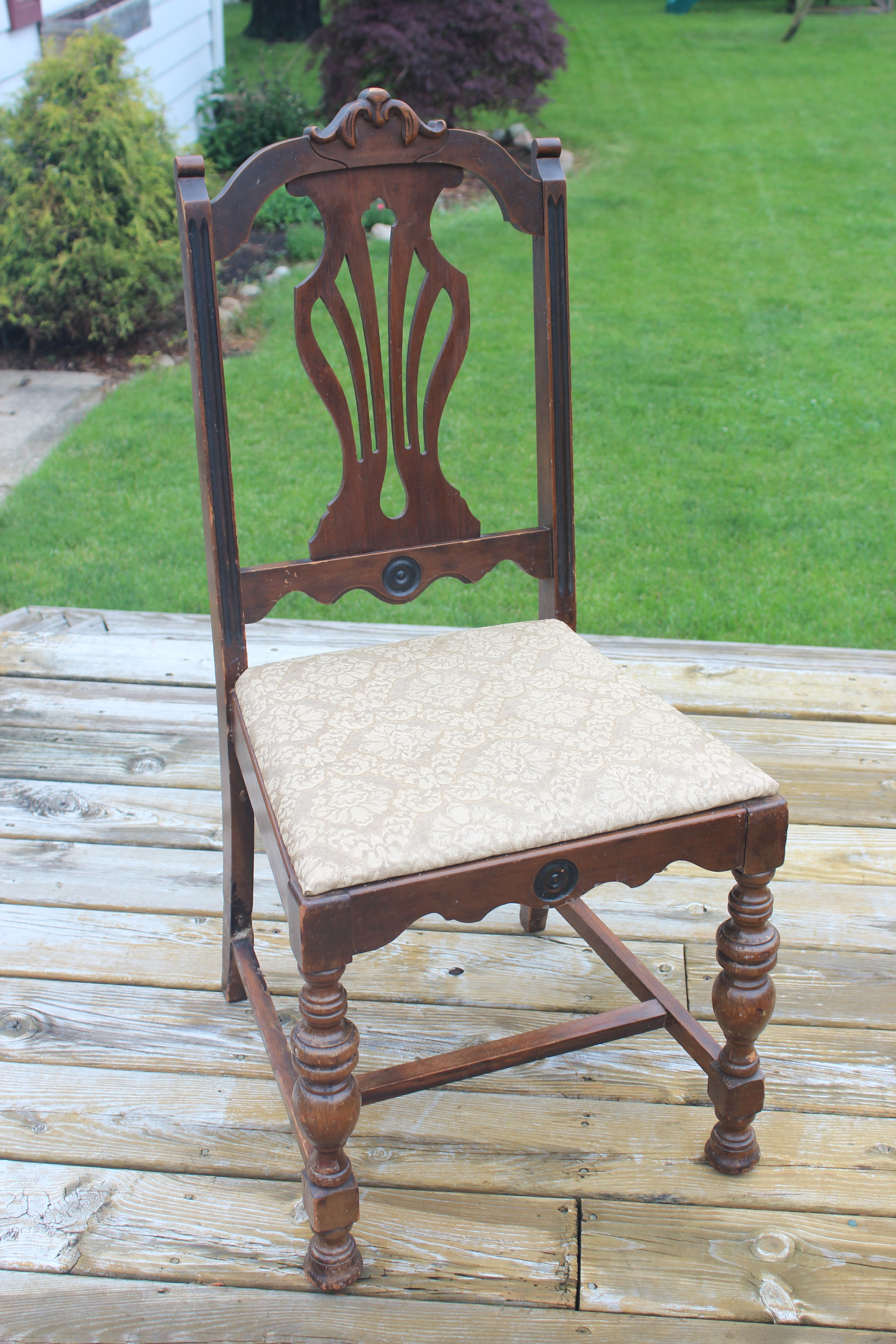 Brown Chair - Perfect for staging florals, shoes, dresses